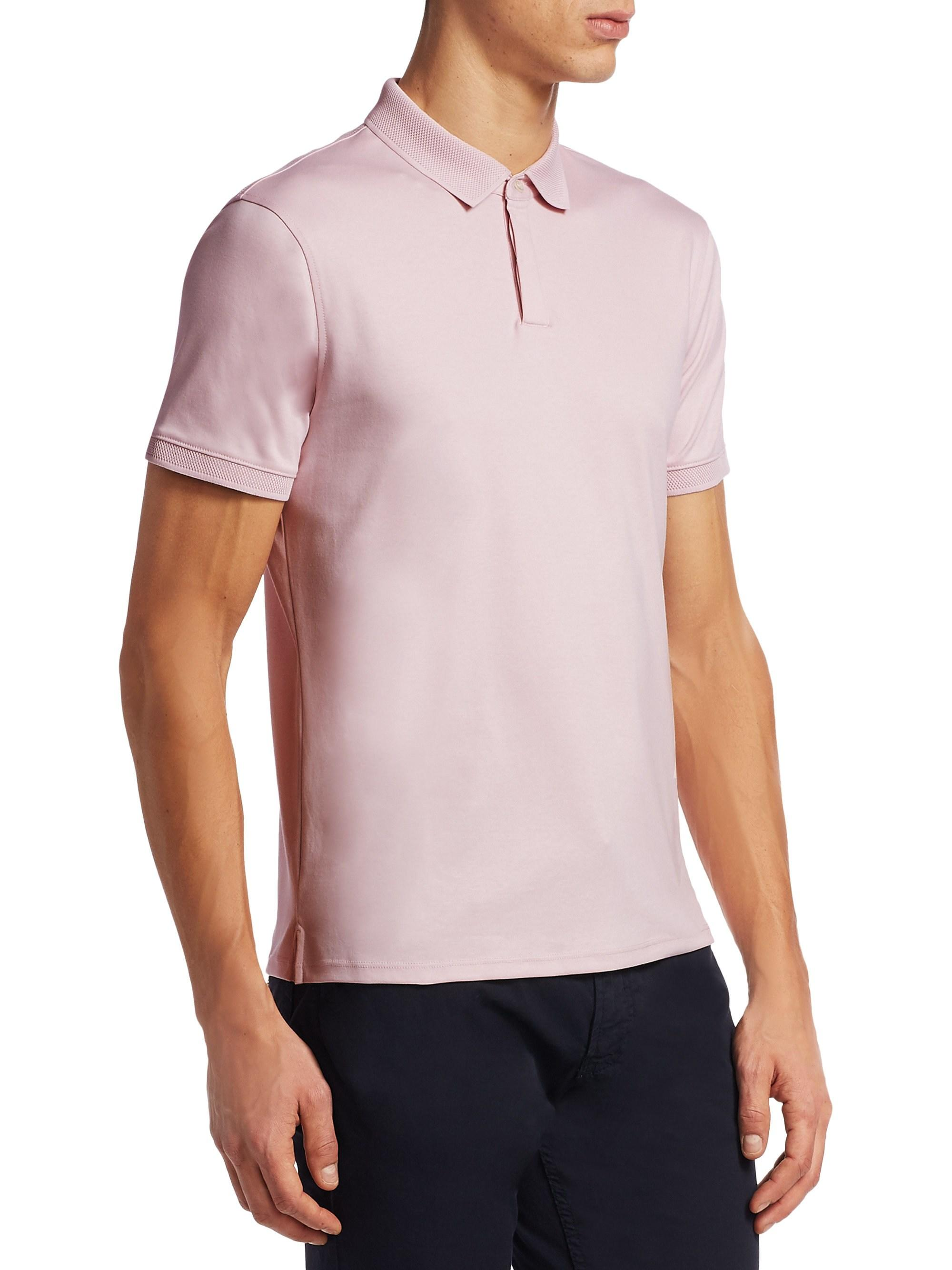 d1cf1799 Lyst - Emporio Armani Men's Pique Polo Shirt - Pink - Size Xxxl in Pink for  Men
