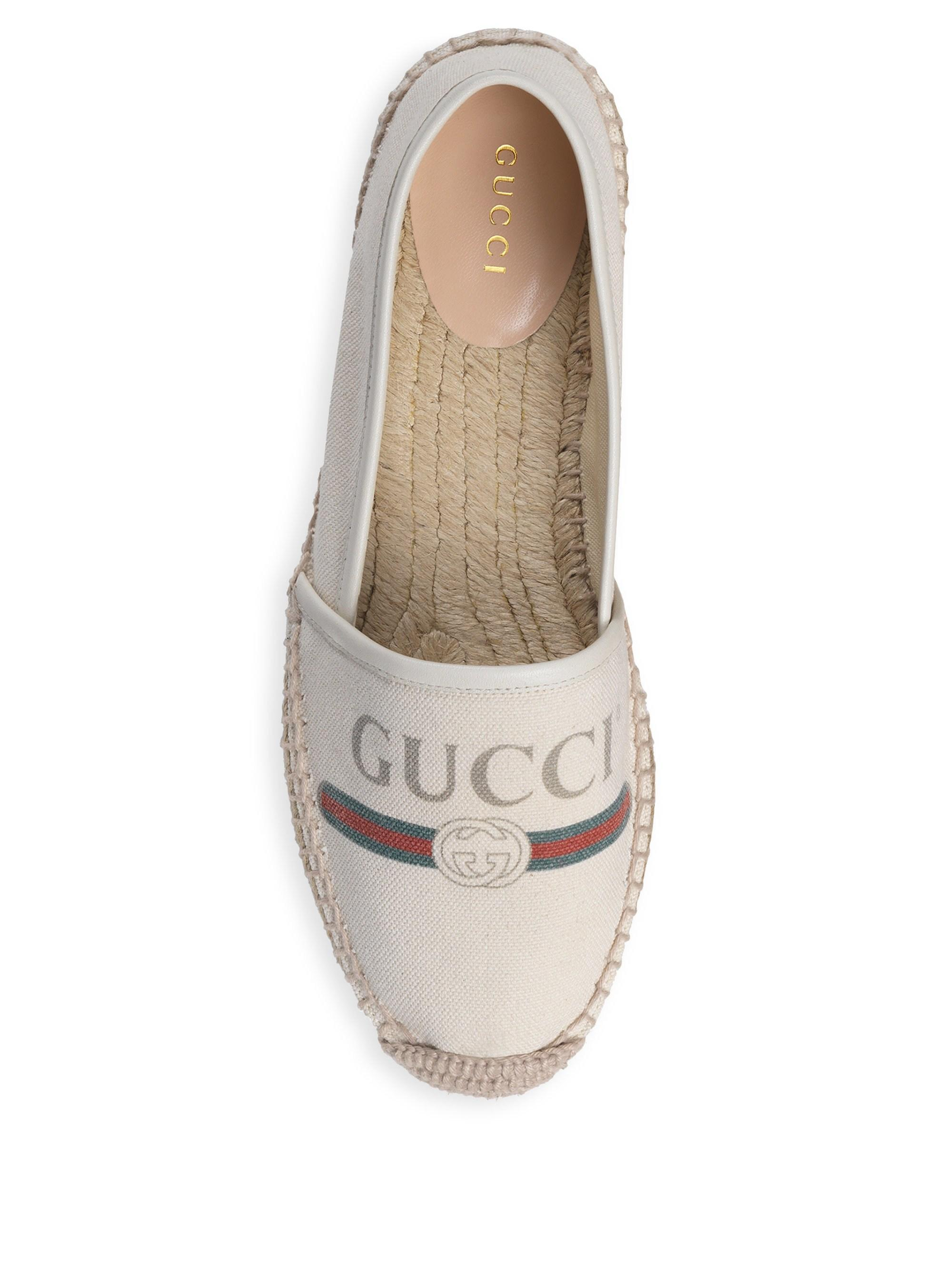 1fd76bc6d25f Lyst - Gucci Women's Logo Canvas Espadrilles - Grey - Size 35.5 (5.5) in  Gray