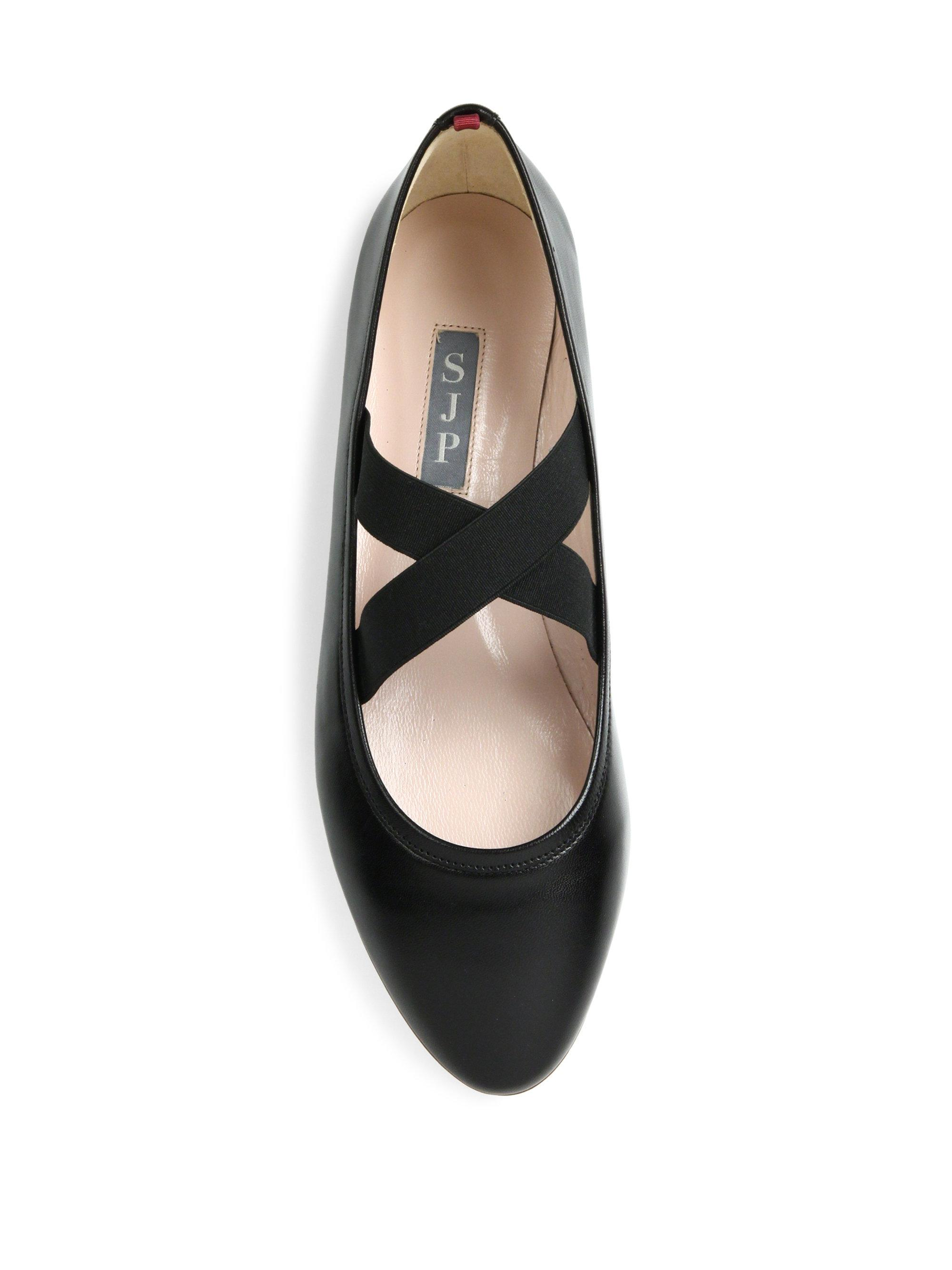 Quilted Plain Toe Leather Flats CW307003