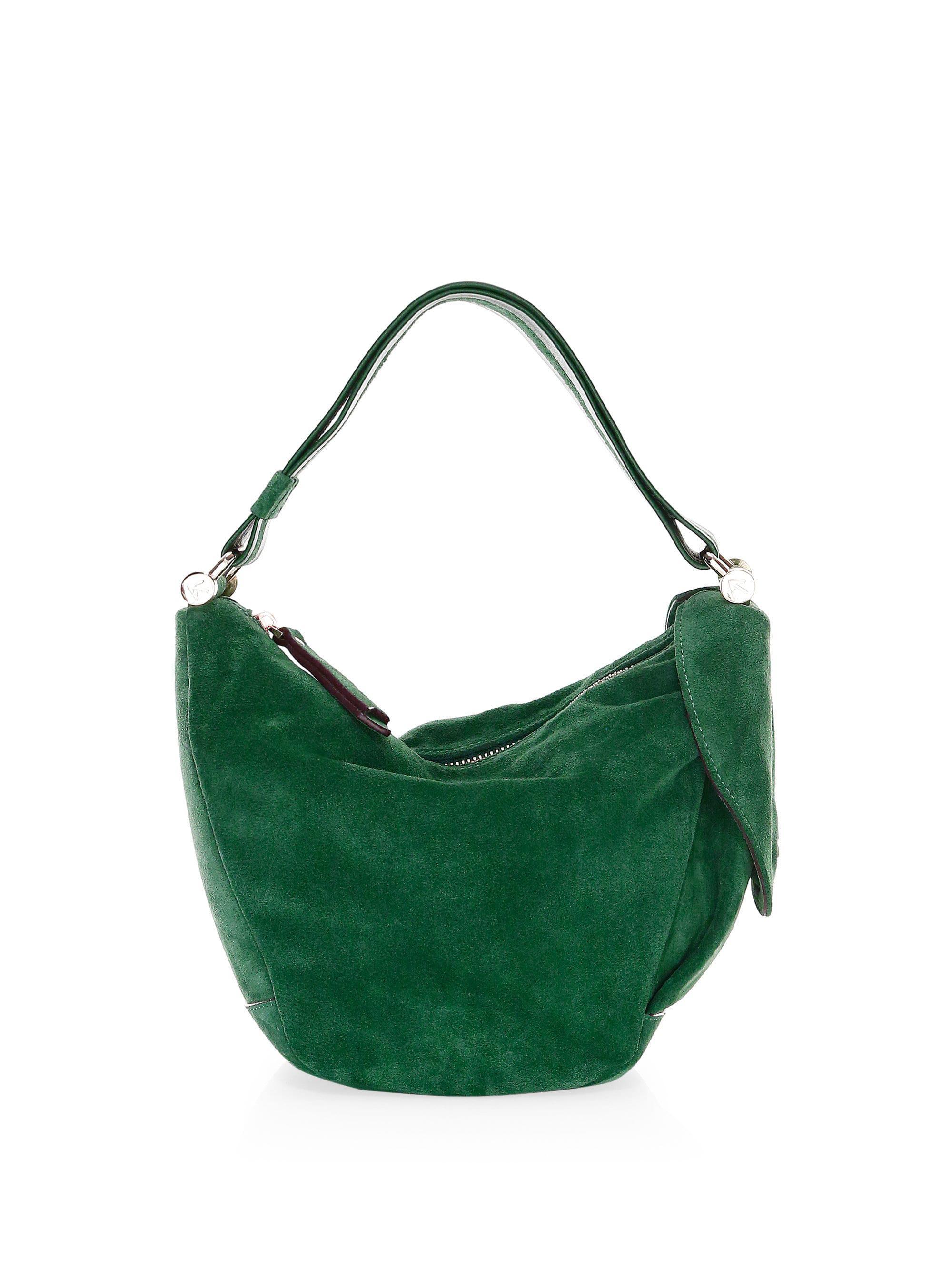 Manu Atelier Micro Fernweh Suede Bucket Bag in Green - Lyst 6d9d0c37090ac