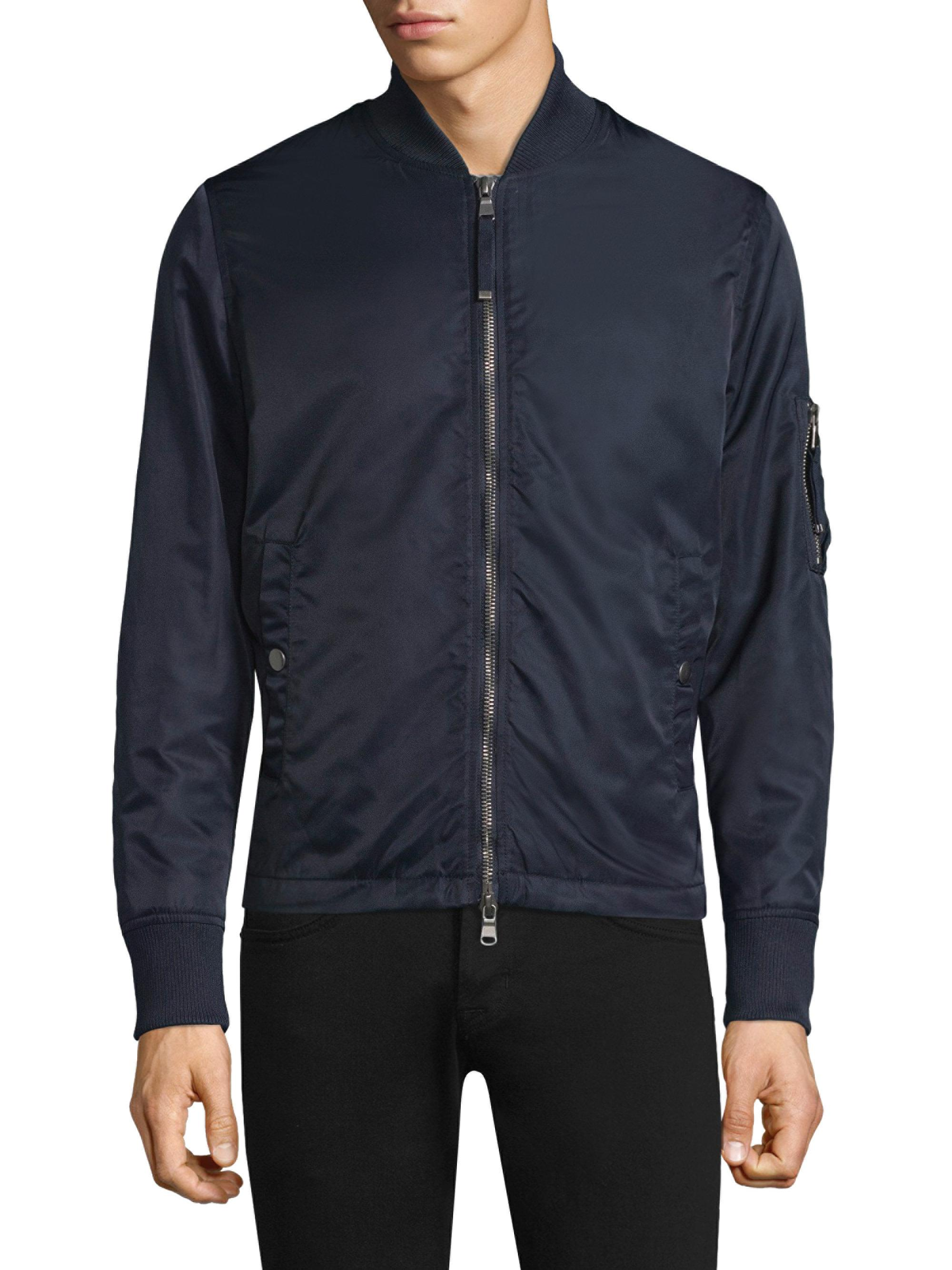 Diesel Black Gold Synthetic Graphic Bomber Jacket in Blue ...