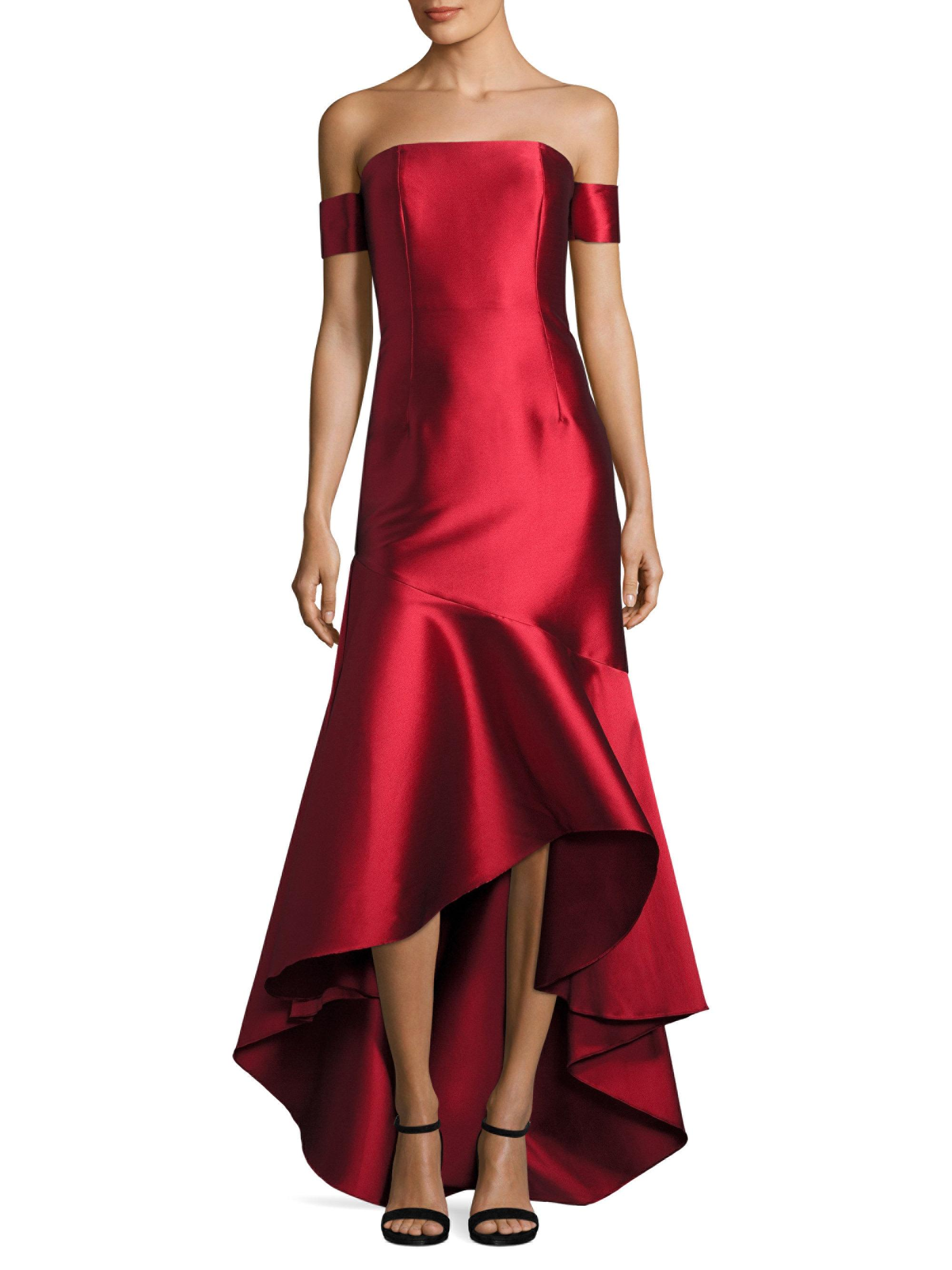Lyst Sachin Babi Ethel Off The Shoulder Gown In Red