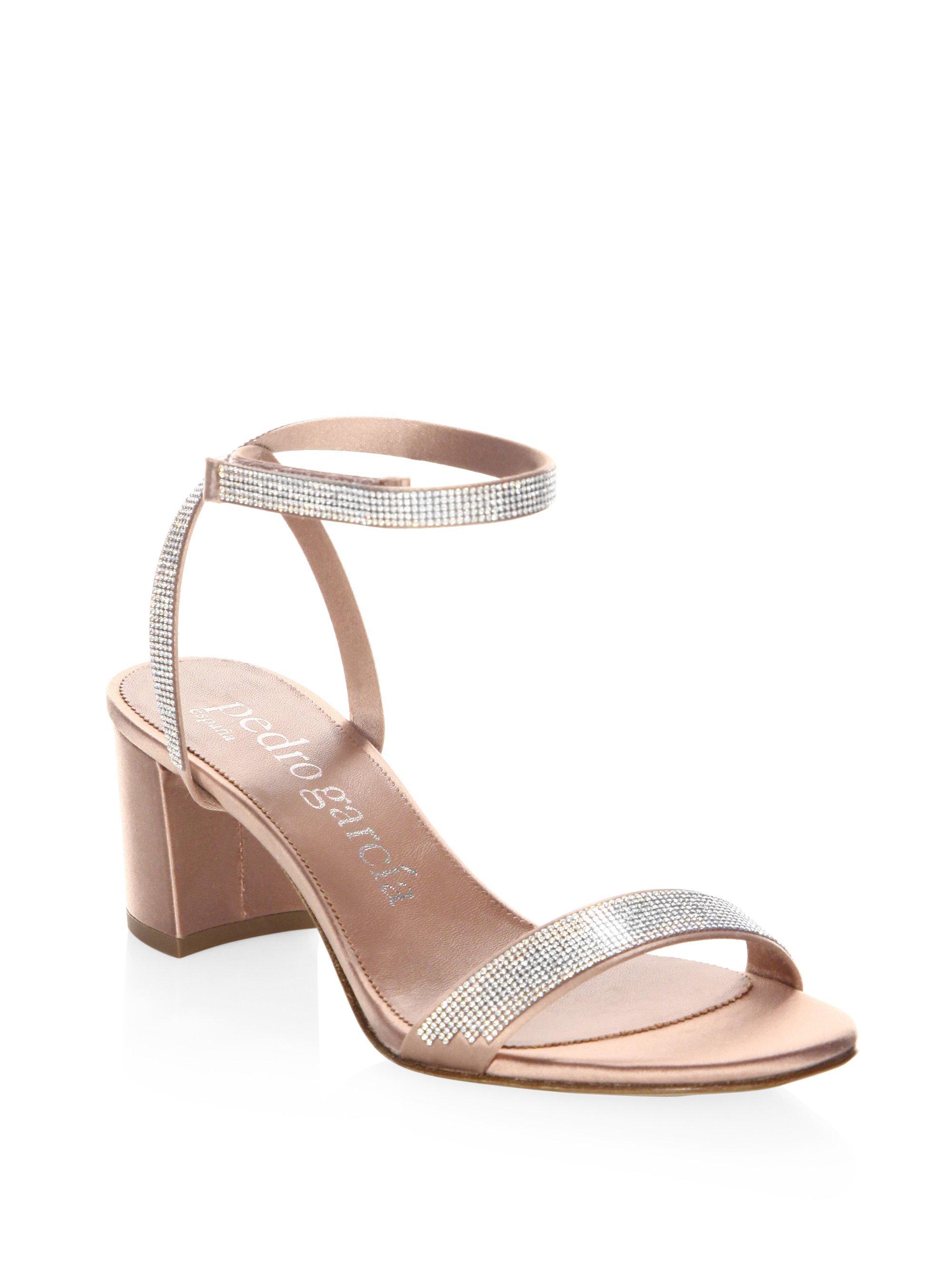 Pedro Garcia Xela Swarovski Crystal Embellished Block-Heel Sandals