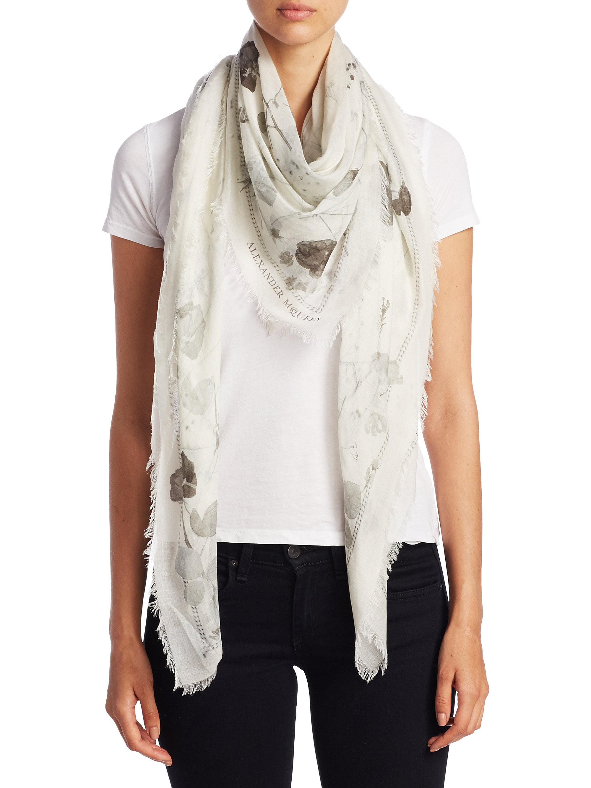 border ferrari cashmere gallery white in accessories pink scarf blend lyst franco silk product rose normal ivory paisley