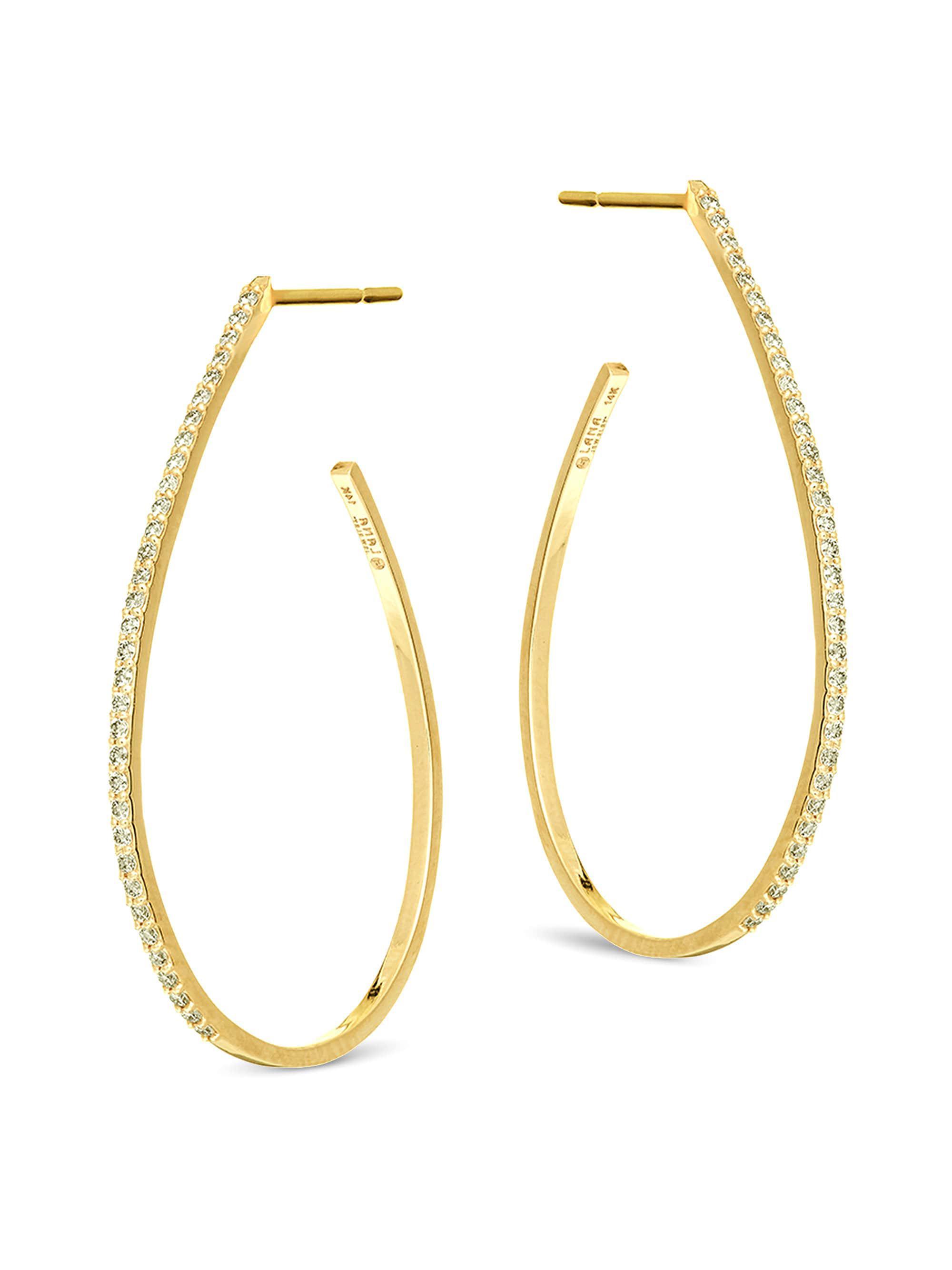 Lana Jewelry Flawless Huggie Hoop Earrings with Diamonds Lq7fGqF