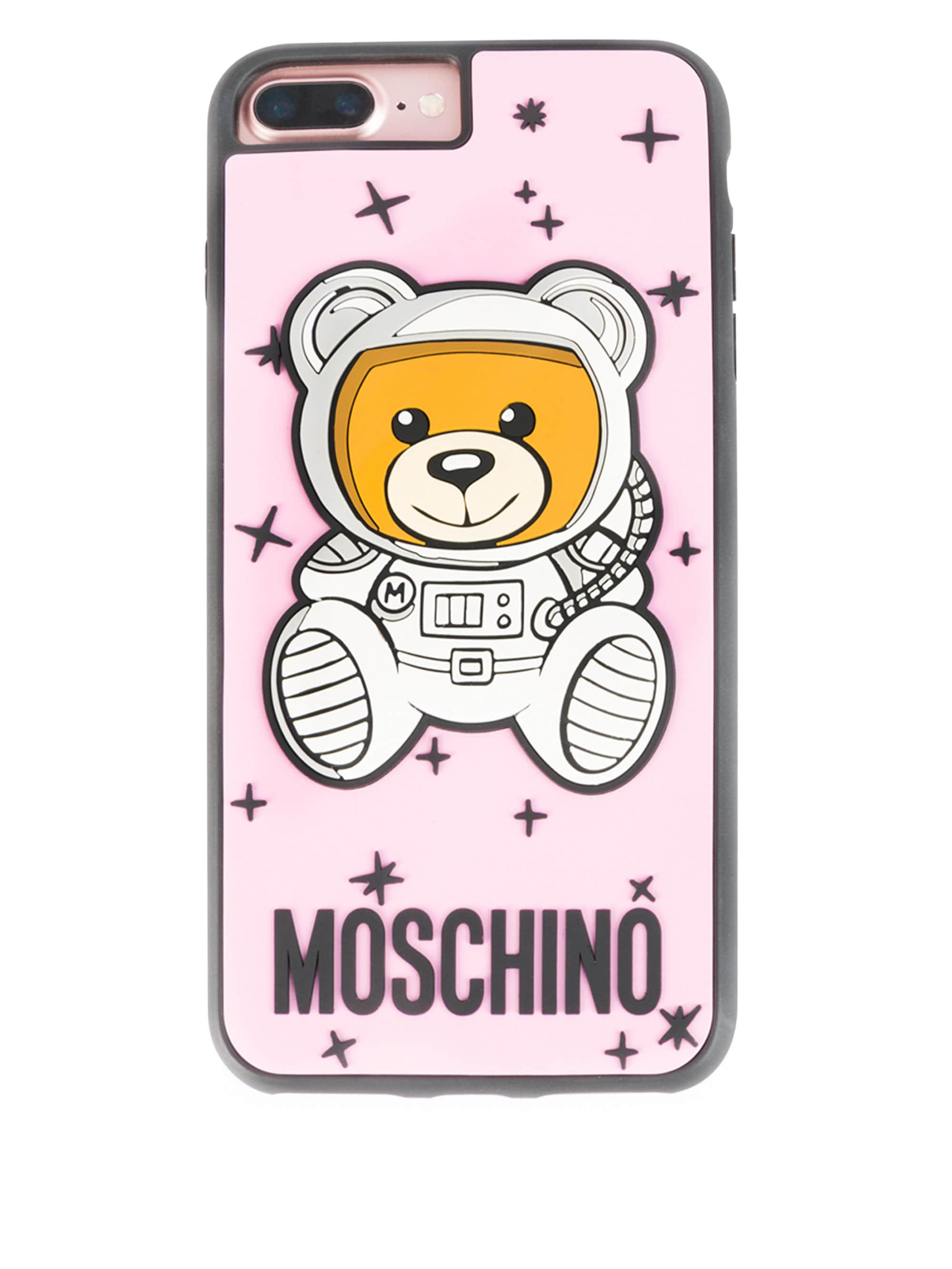online store b9fcd 42617 Moschino Pink Astro Bear Iphone 8 Plus Case