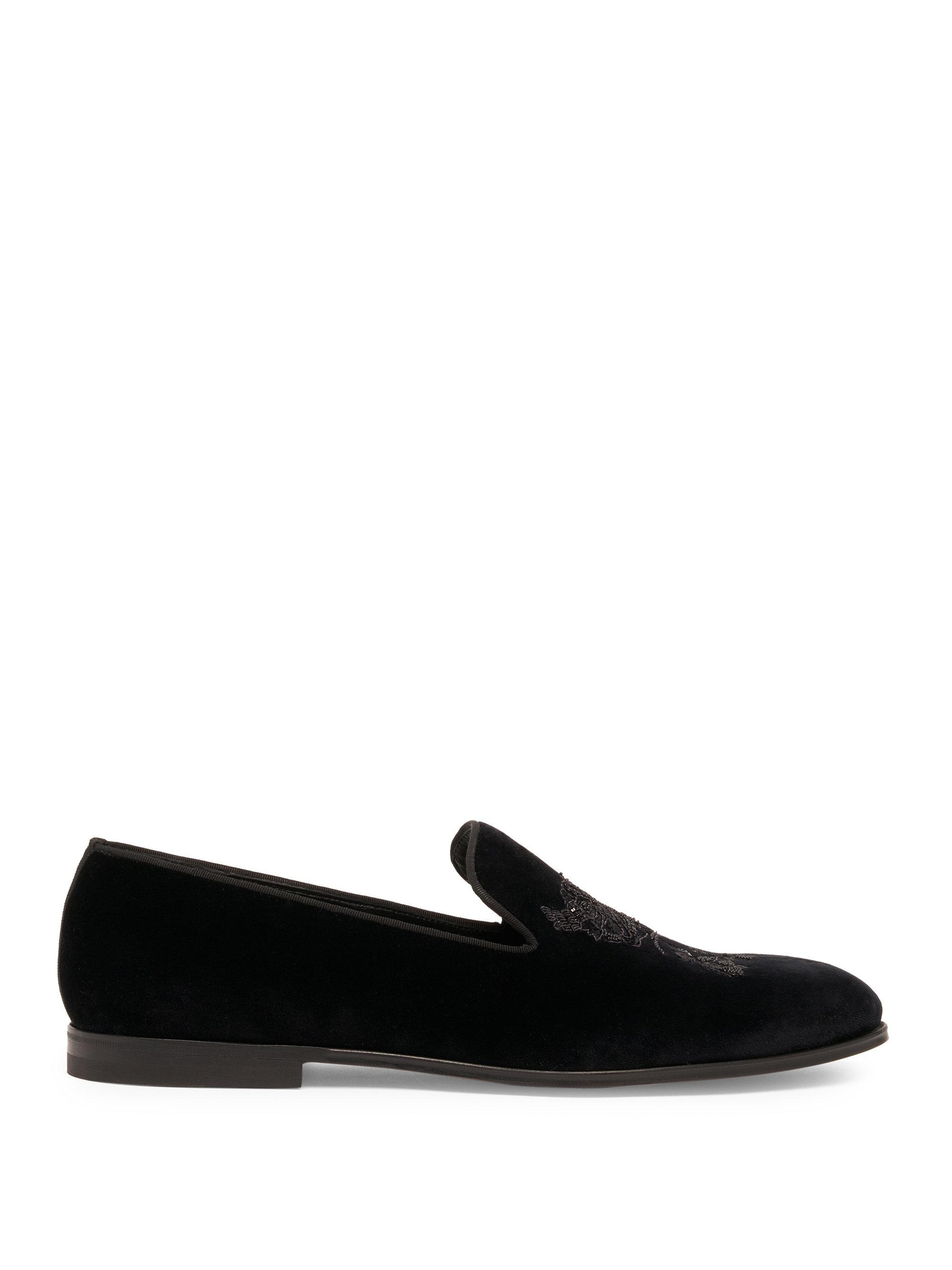 where to buy cheap real outlet shop offer Alexander McQueen Velvet Round-Toe Loafers discount new official for sale clearance huge surprise c9D42V7