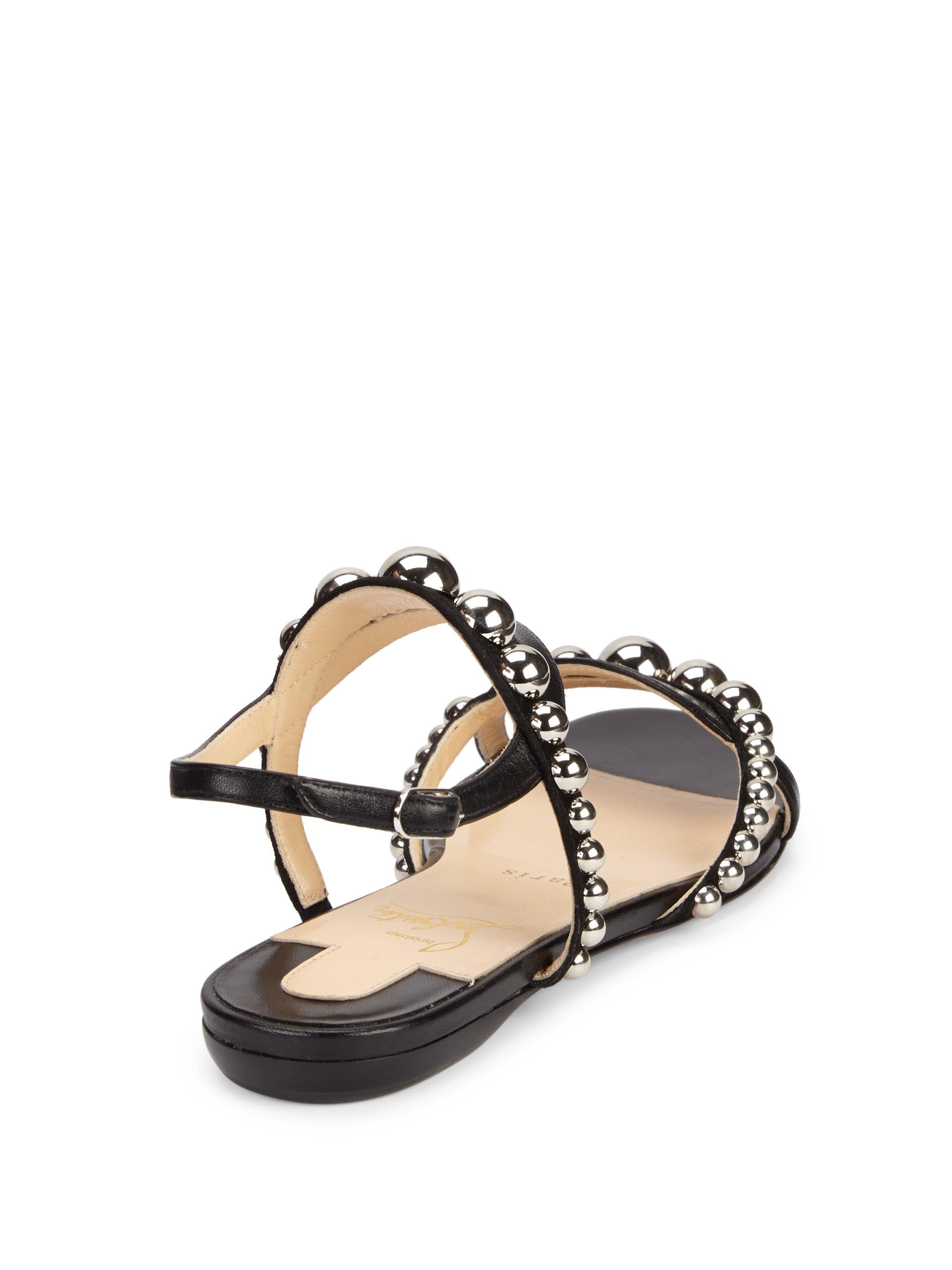 cheap for discount 40afd 7b5bb Women's Black Galleria Leather Stud Flats