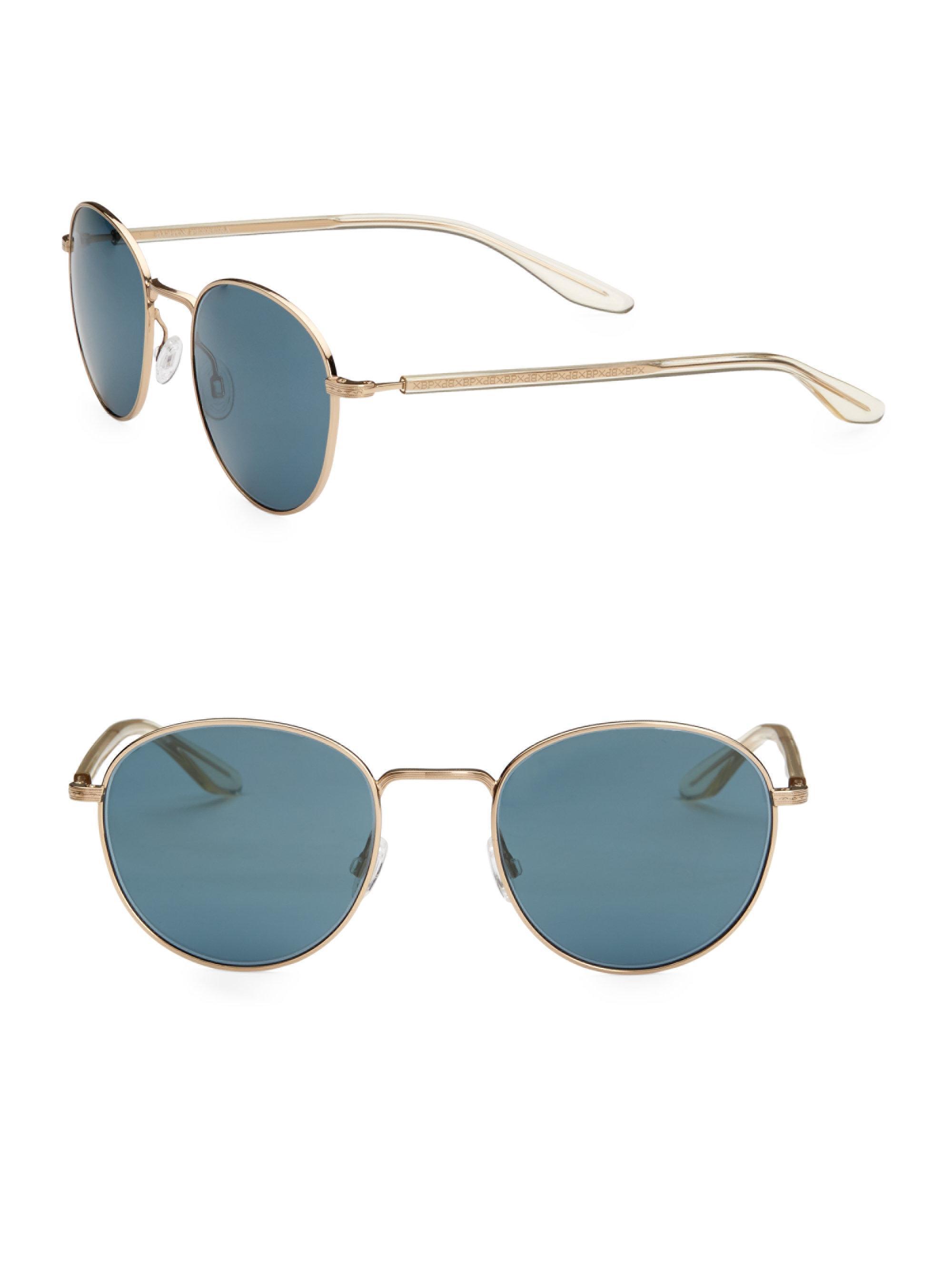 4f82d29e59f9 Barton Perreira. Men s 10-year Anniversary Tudor 52mm Round Sunglasses - Vintage  Blue