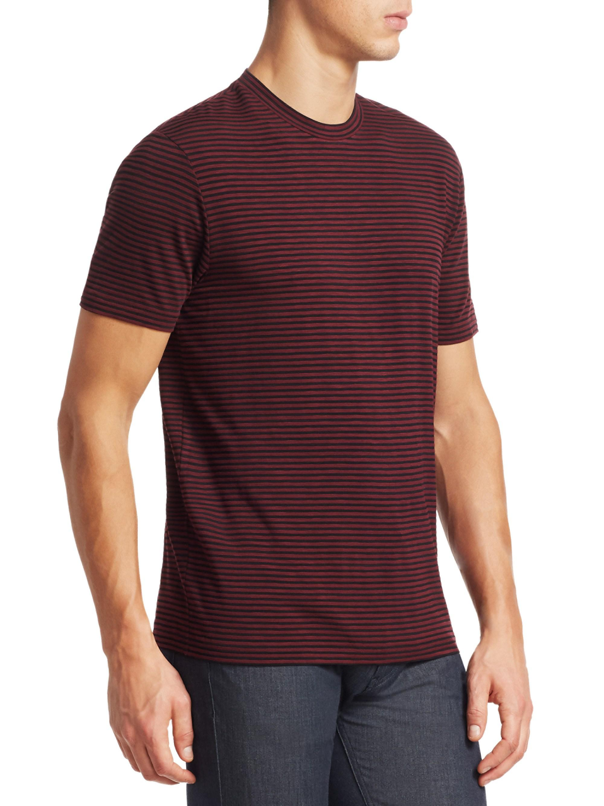 a89ed6032 Lyst - Emporio Armani Stripe Crewneck T-shirt for Men