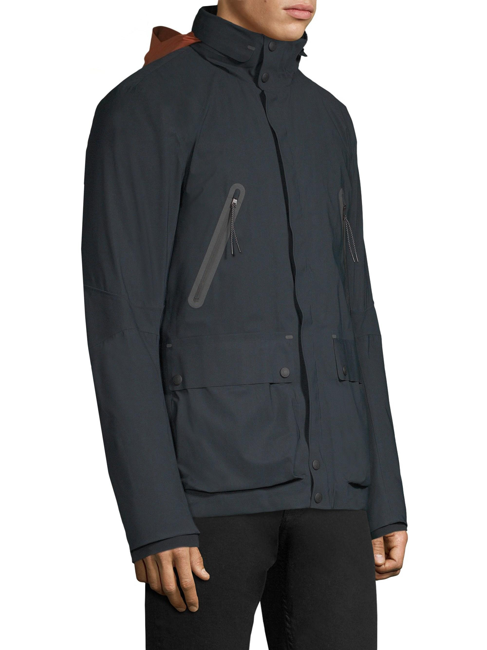 Continental Mendicidad Pacífico  Belstaff Synthetic Jetstream Zip Coat in Navy (Blue) for Men - Lyst