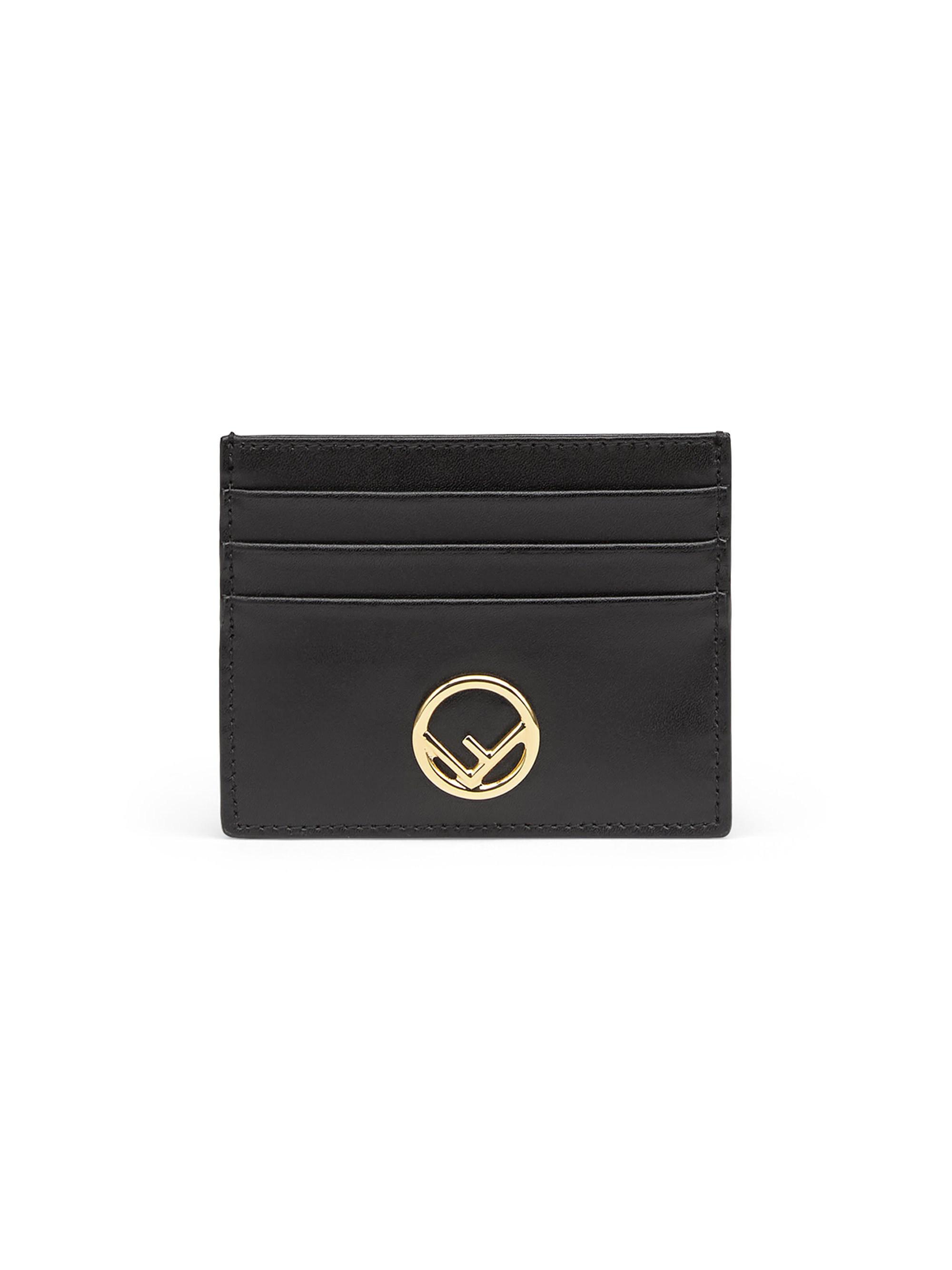 48c876e4 Lyst - Fendi Women's Ff Leather Card Case - Black in Black - Save 26%
