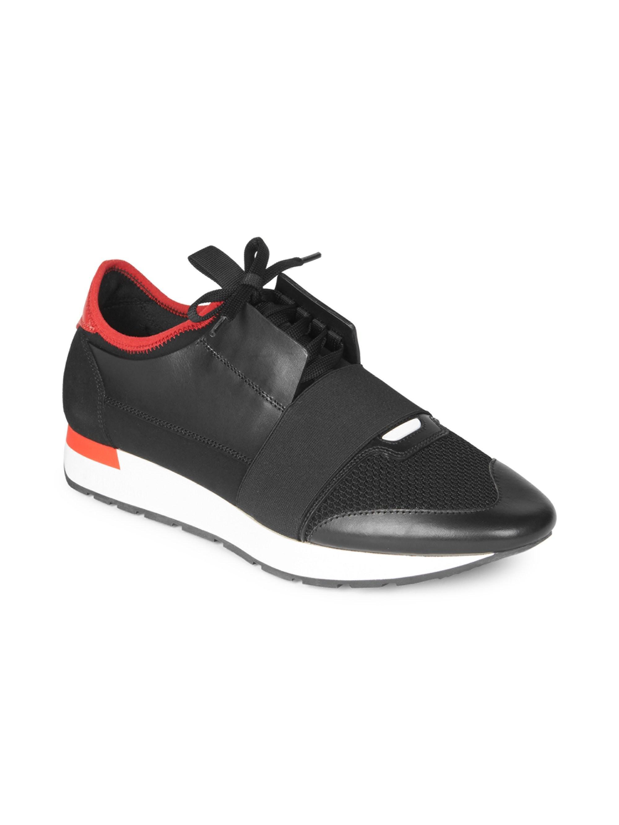 Race Runner Sneakers - Argent Nero