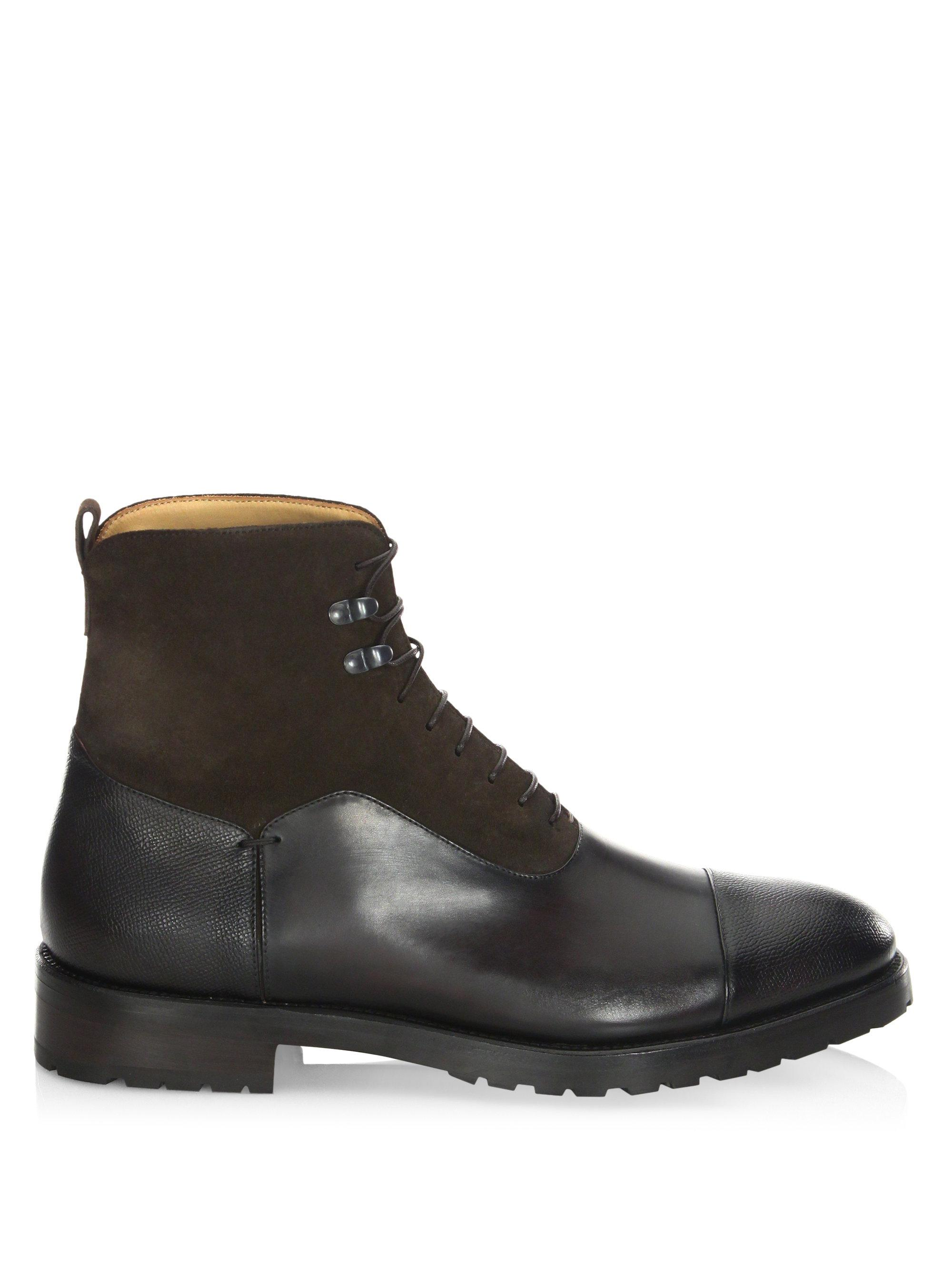 SUTOR MANTELLASSI Stark Parigi Leather Boots CSJcKMq