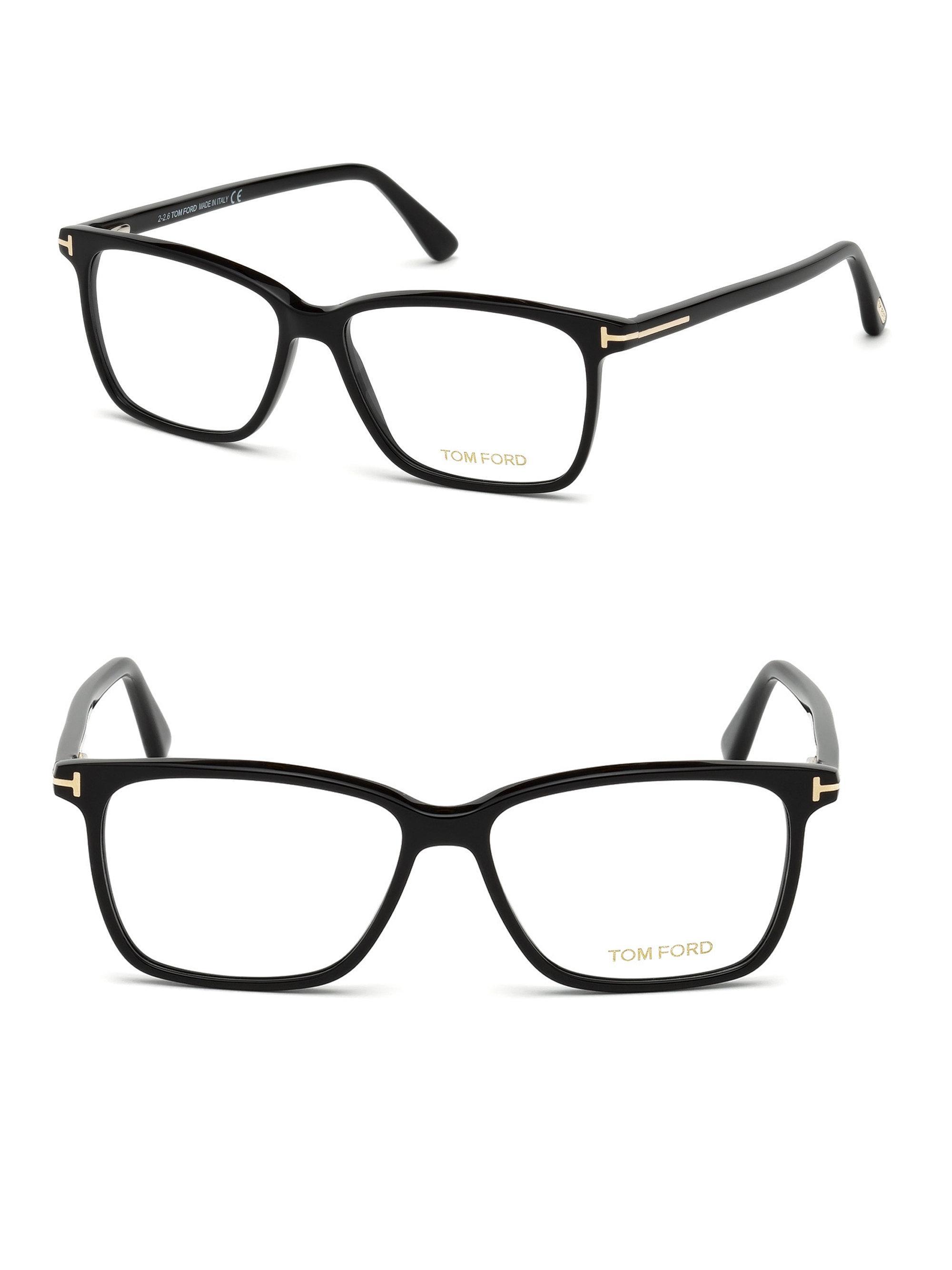 55eddec240 Tom Ford - Men s 55mm Blue Block Optical Glasses - Black for Men - Lyst.  View fullscreen