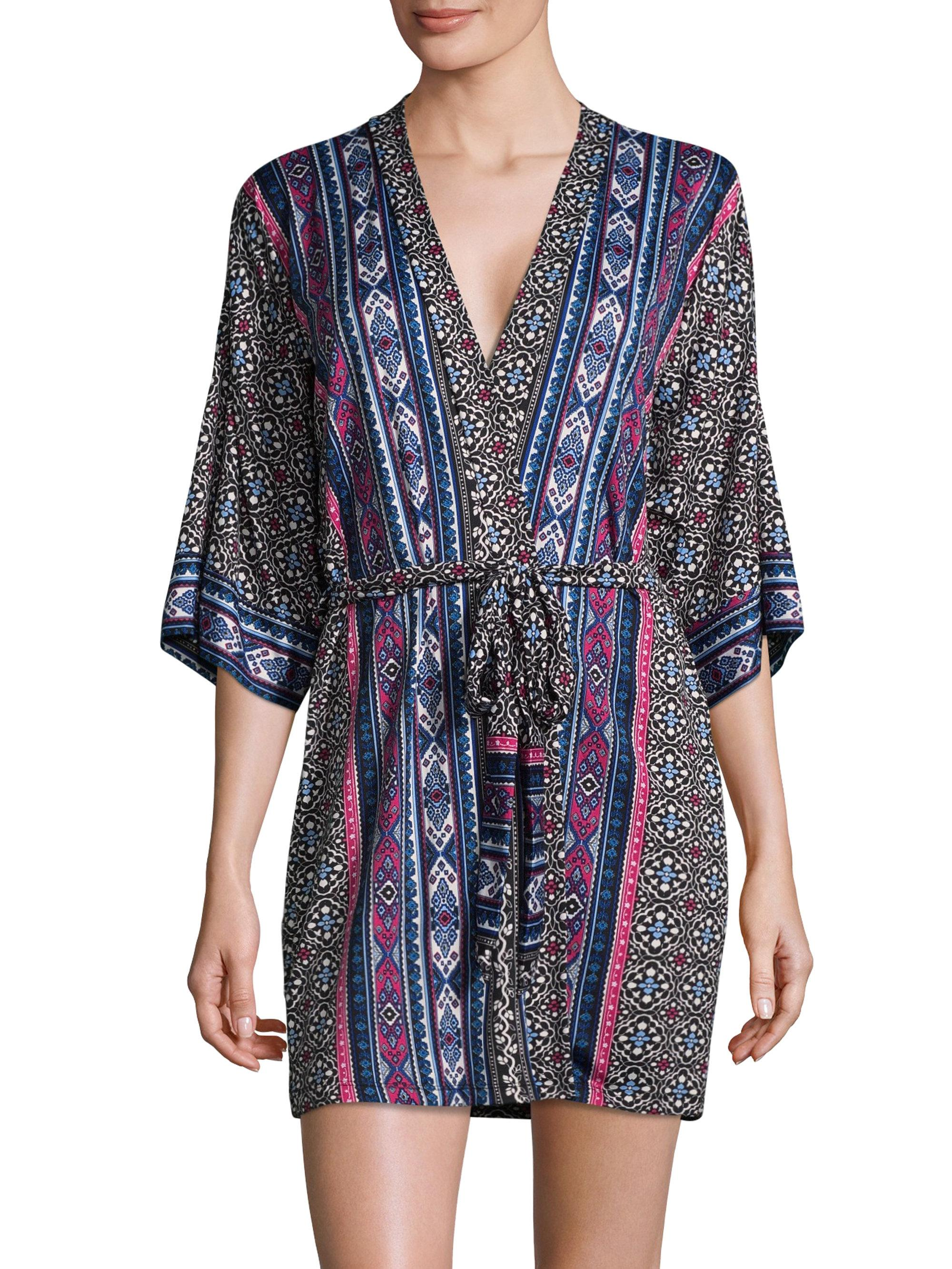Lyst in bloom patterned robe in black for Saks 5th avenue robes de mariage
