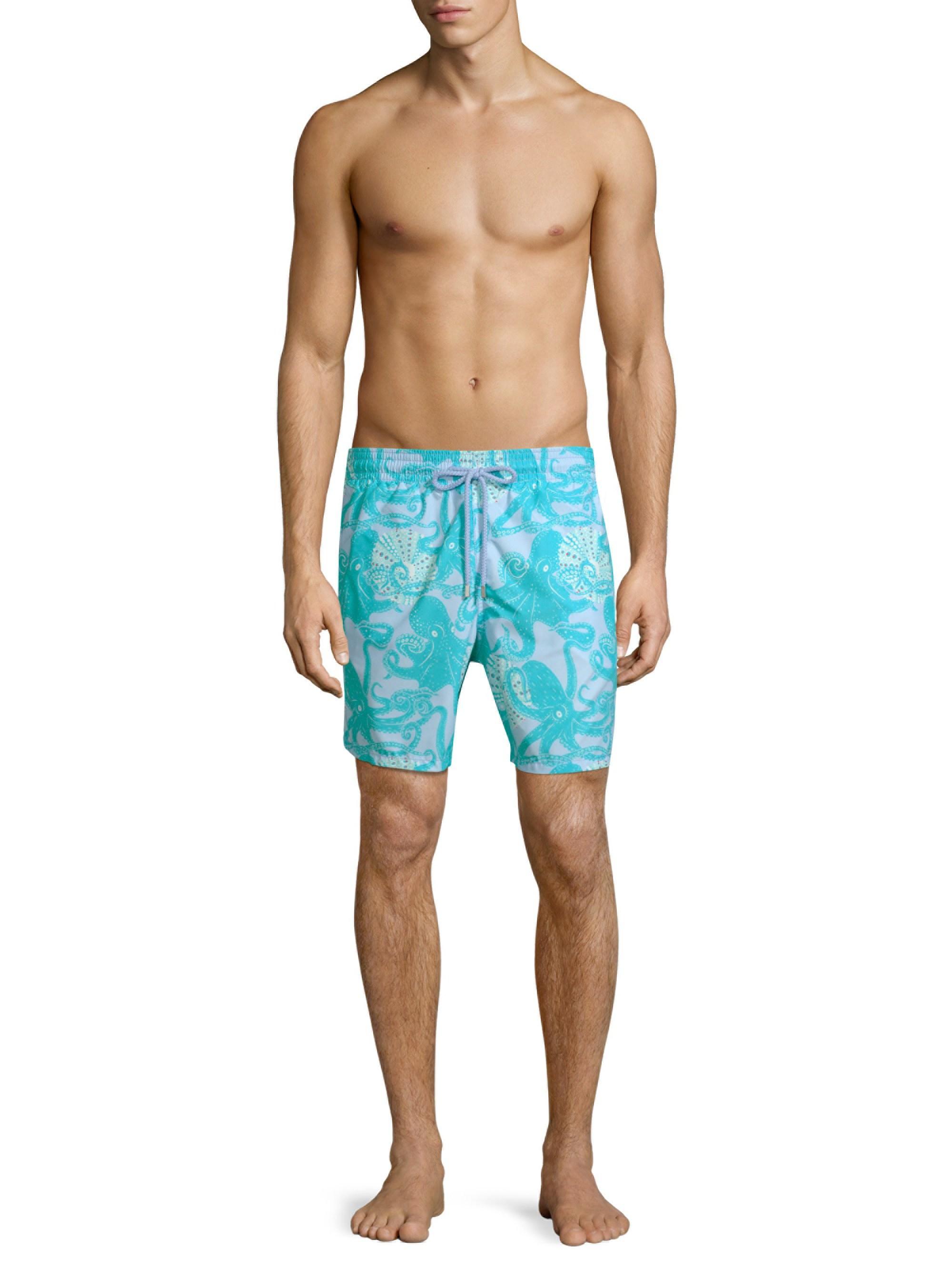 b8a1079181b0c Vilebrequin - Blue Moorea Octopus Swim Trunks for Men - Lyst. View  fullscreen