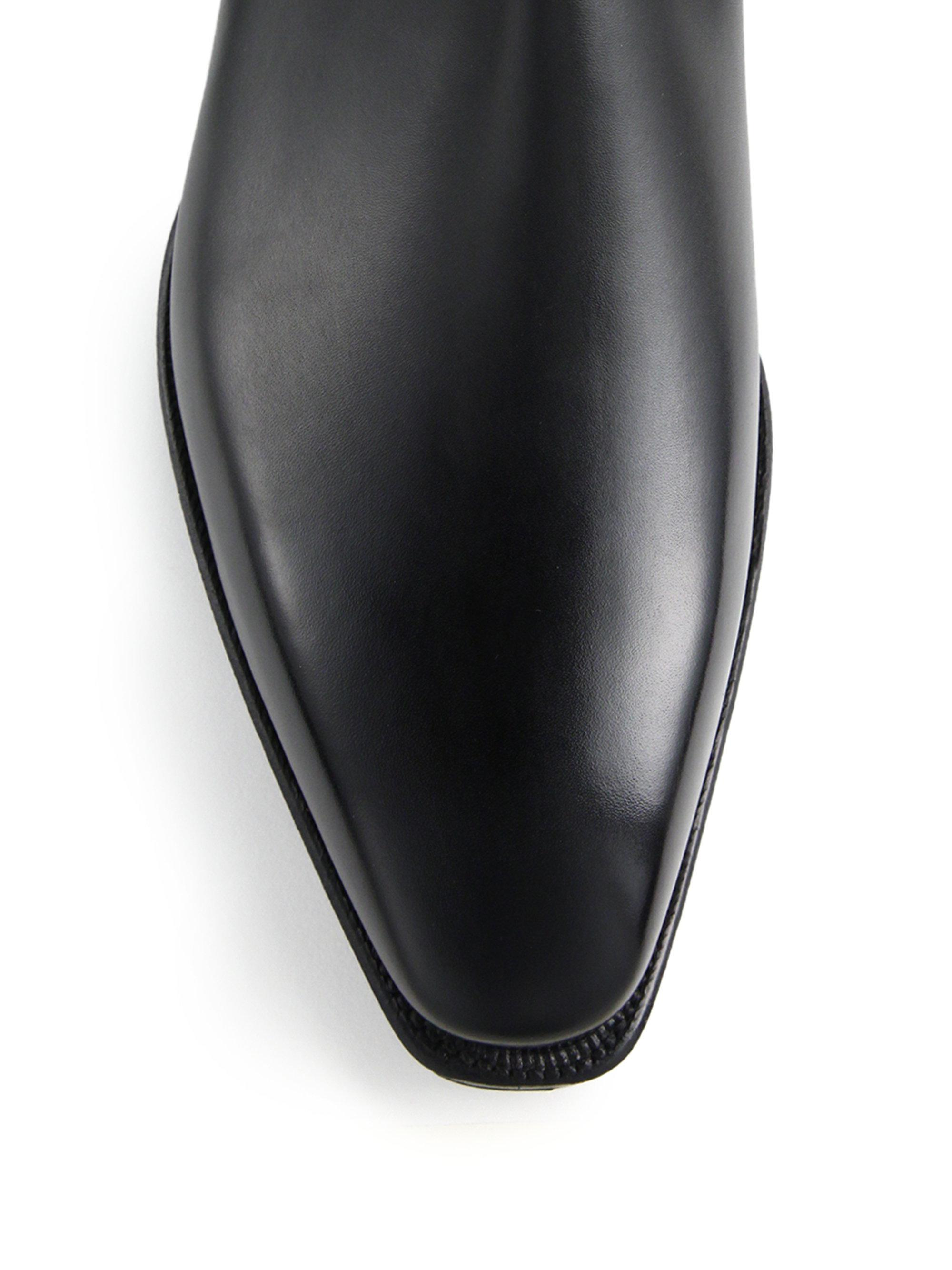 Corthay Bella Low Rise Leather Chelsea Boots In Black For