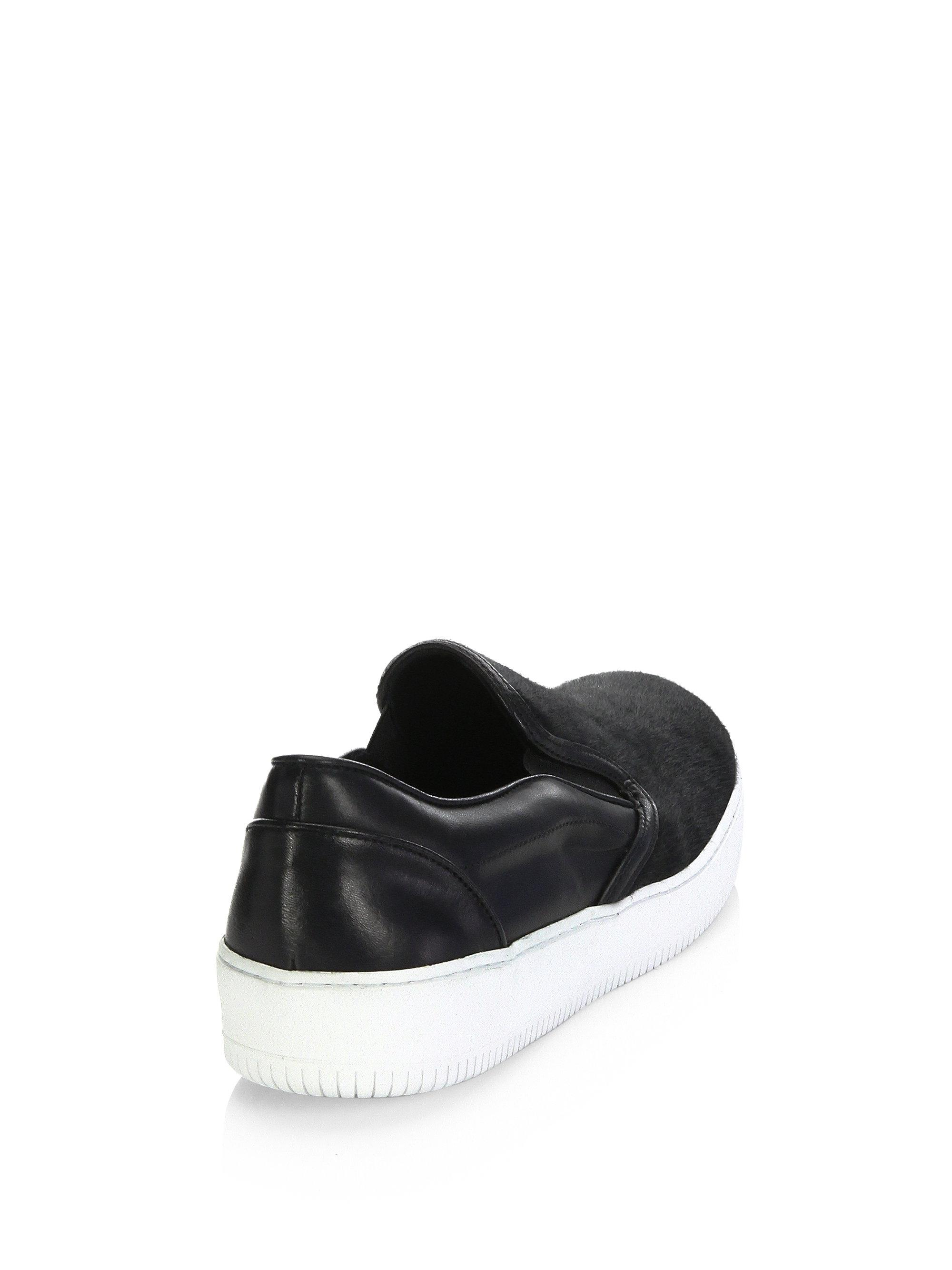 Saks Fifth Avenue COLLECTION Pony Hair Slip-On Sneakers