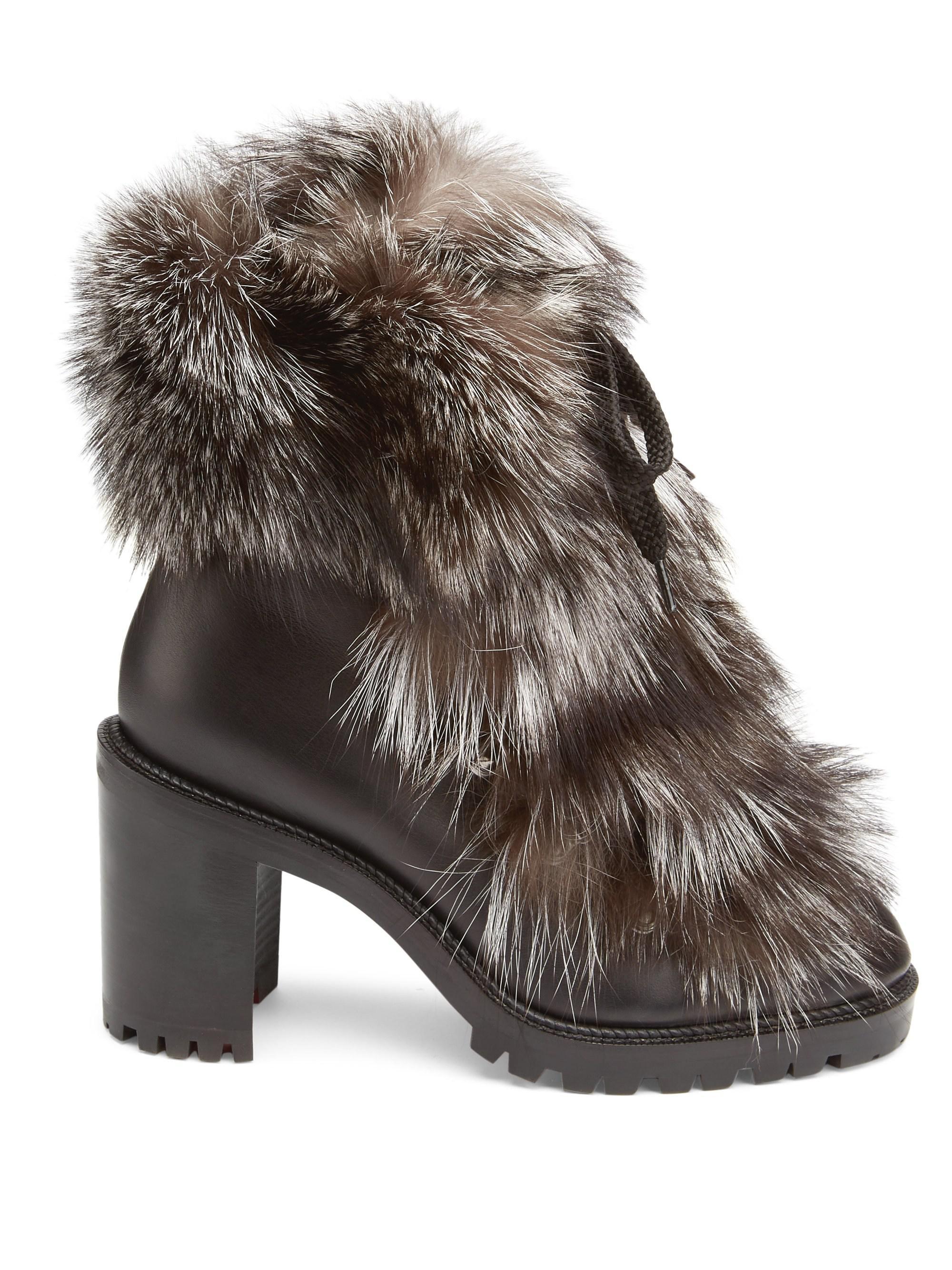 72bb978104f Christian Louboutin Fanny Genuine Fox Fur Boot - Lyst