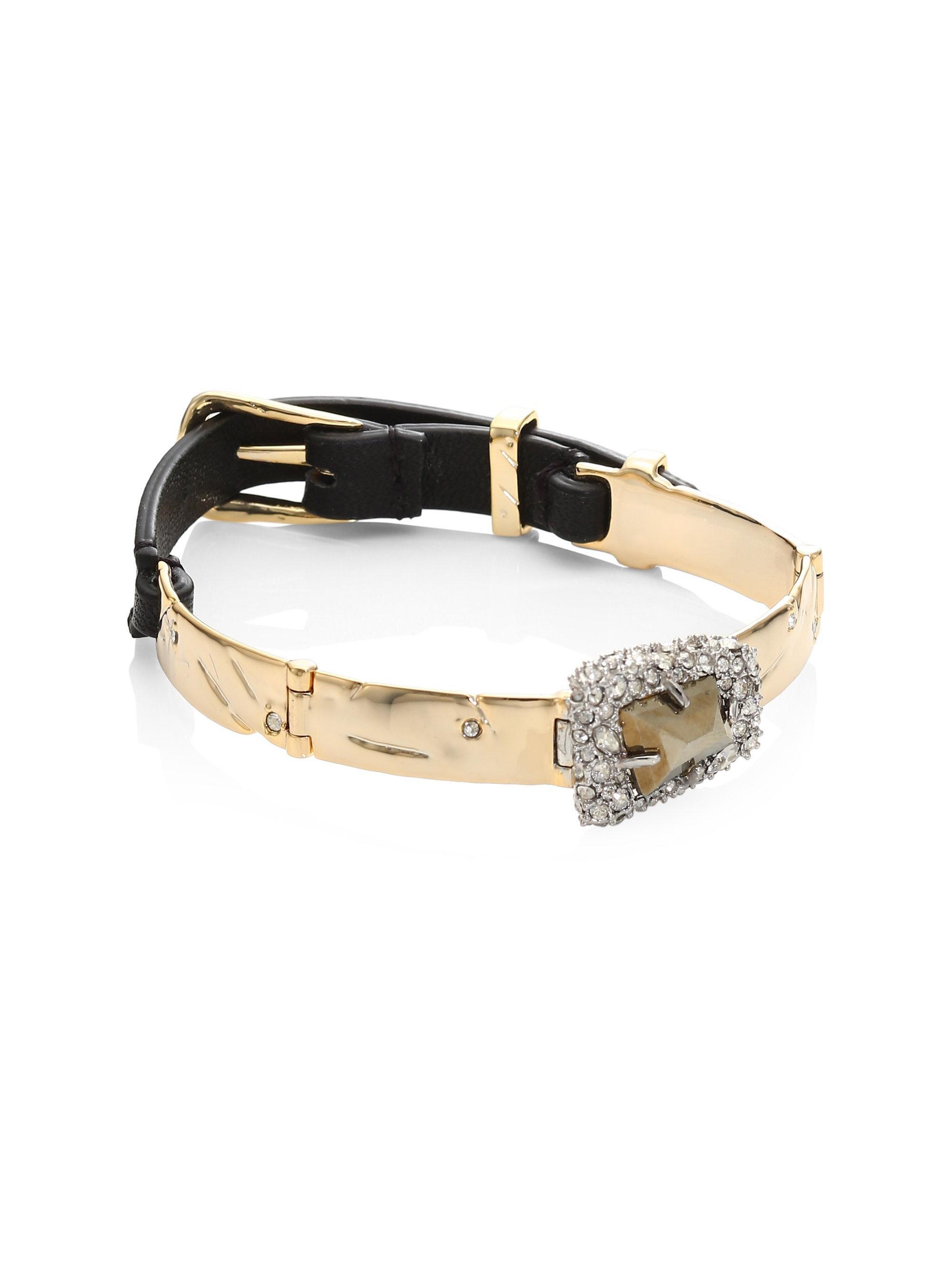Alexis Bittar Multi-Station Leather Bracelet 0uUrdCmtT