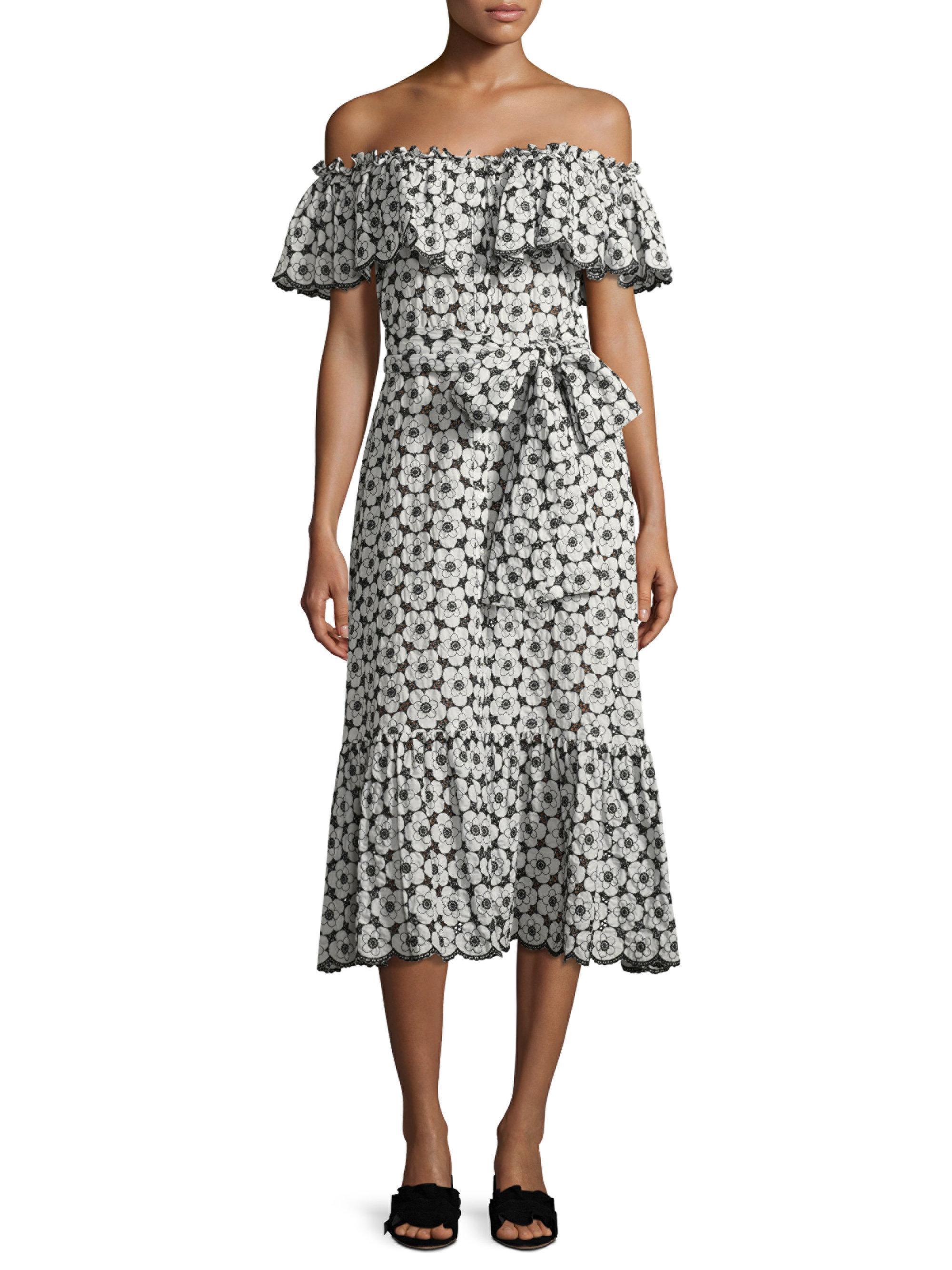 Womens Mira Embroidered-Eyelet Cotton Dress Lisa Marie Fernandez MCltUET