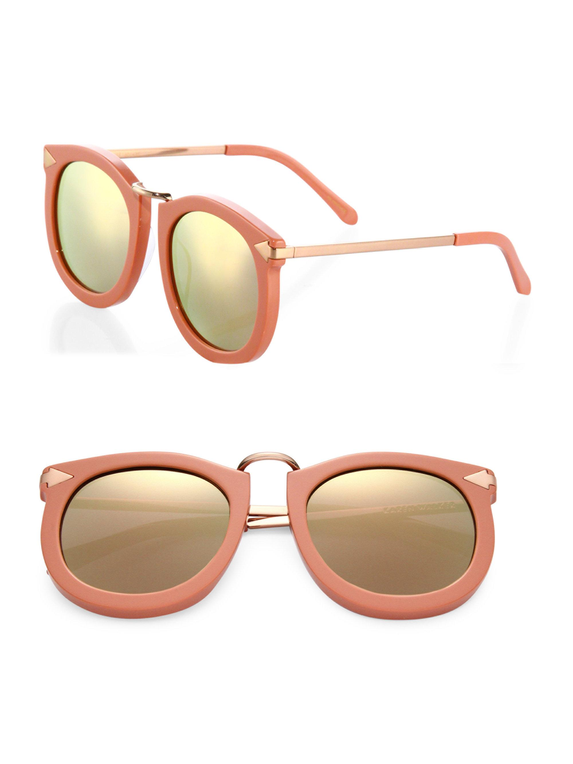 80866549bb06 Karen Walker Super Lunar 53mm Cat's-eye Sunglasses in Pink - Lyst