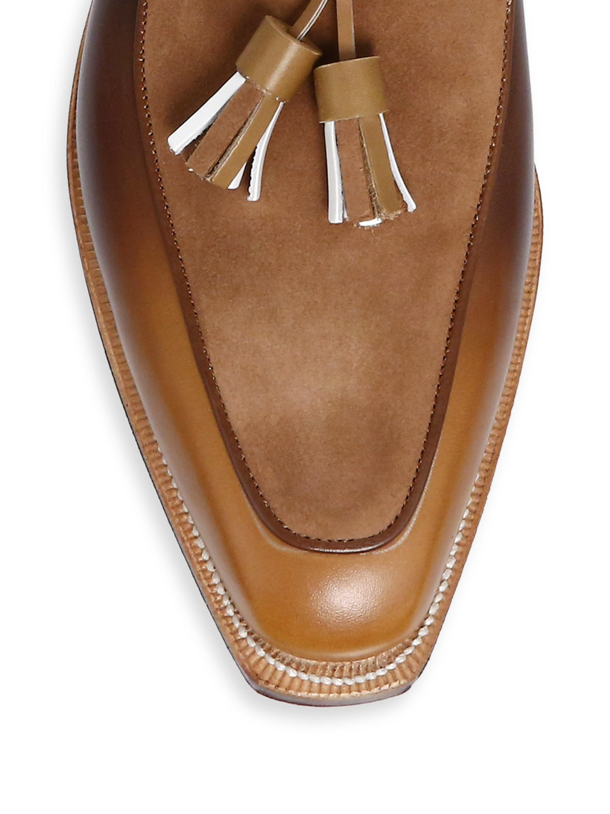 88f2a3b04a2 Lyst - Corthay Dover Tassel Pullman Loafers in Brown for Men