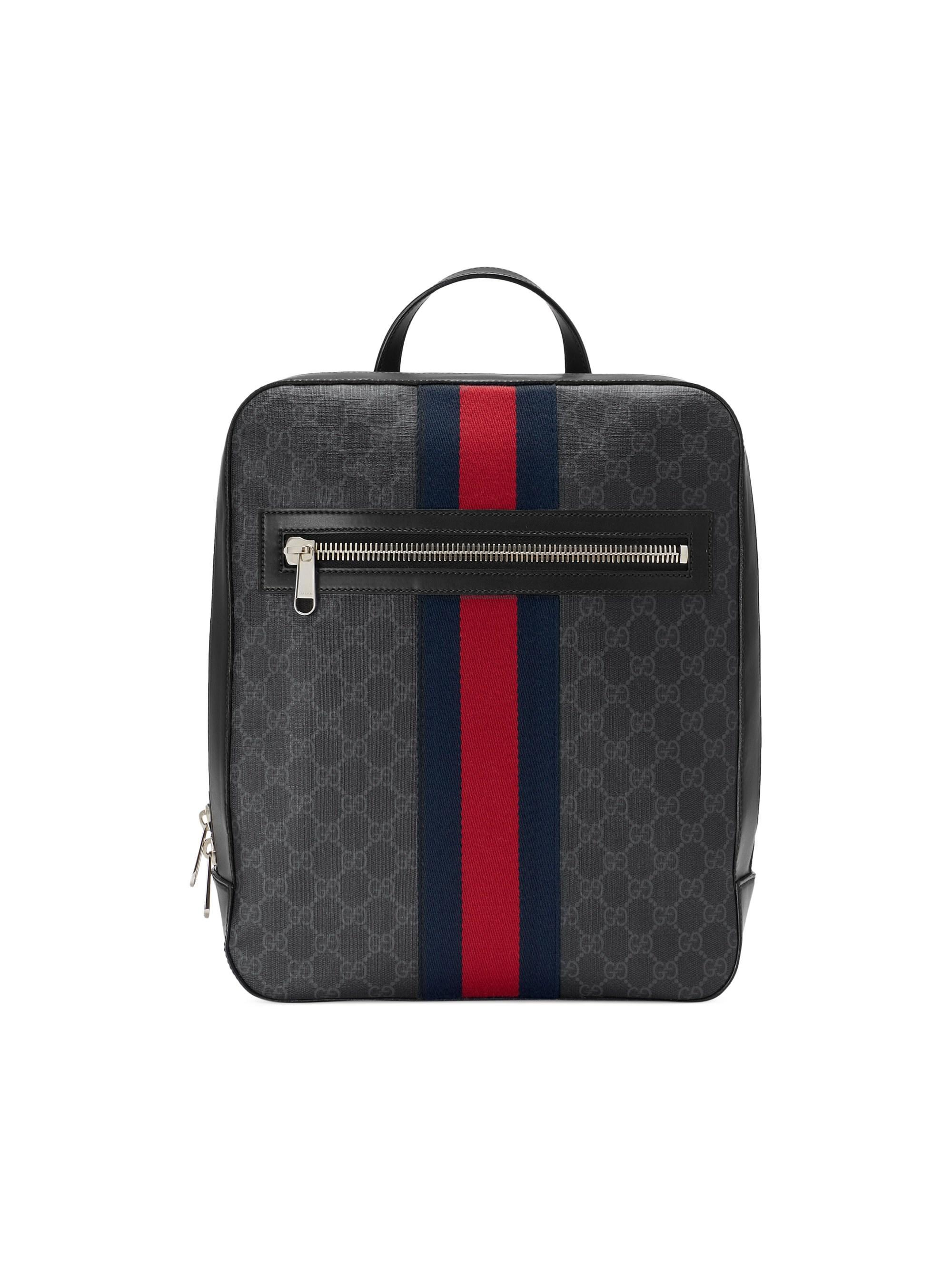 2e542580c26 Lyst - Gucci GG Supreme Web Backpack in Black for Men - Save 44%