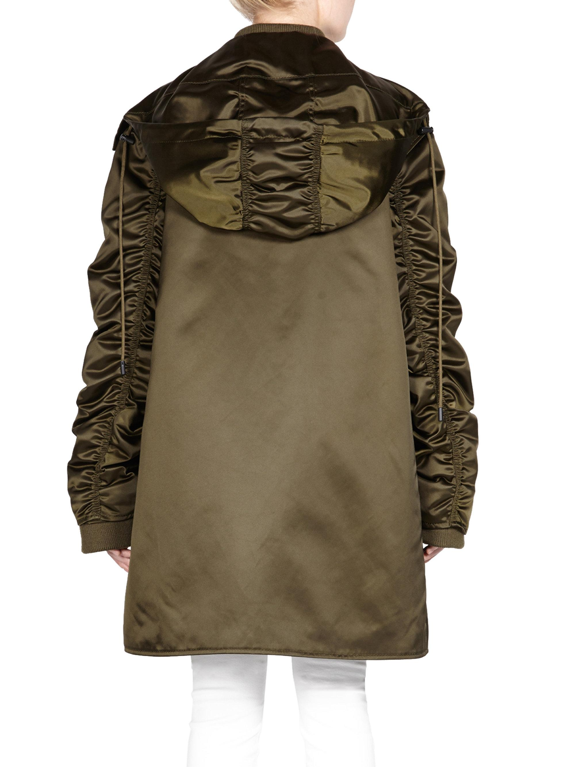 Lyst - Acne Long Bomber Jacket in Green