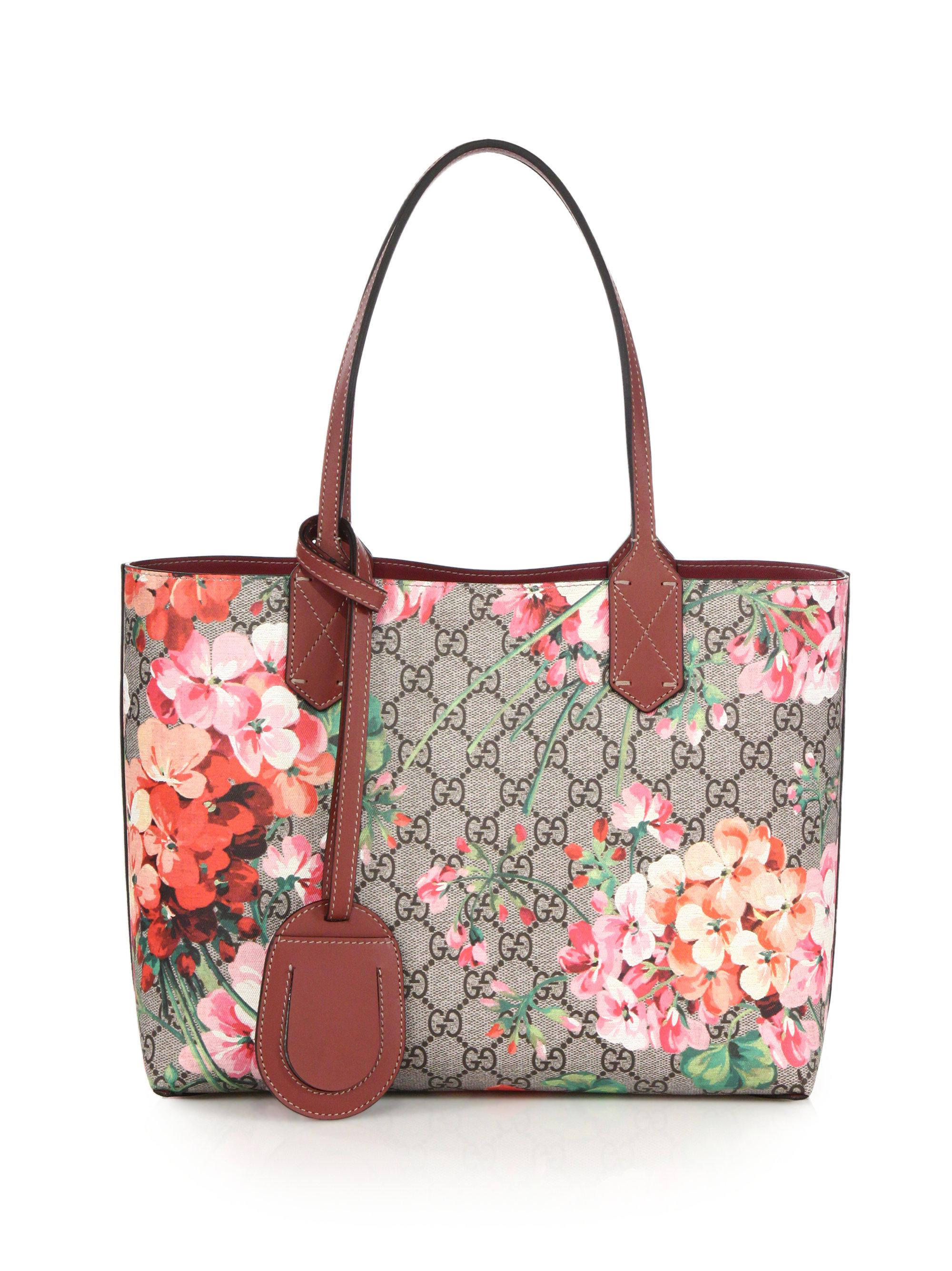 653e0825ed0 Lyst - Gucci Gg Blooms Small Reversible Tote in Pink