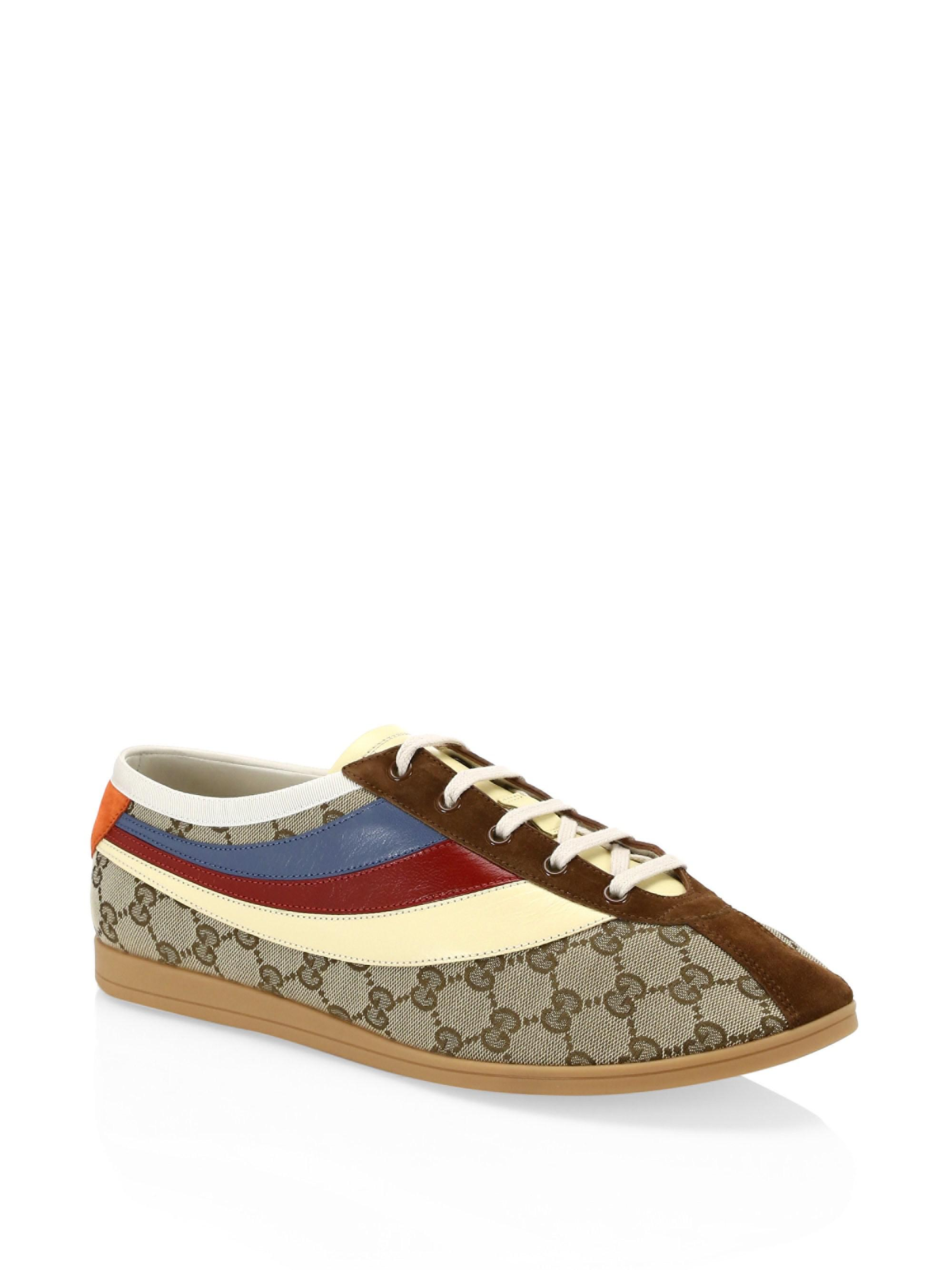 b7543edf260 Gucci. Men s Falacer GG Sneaker With Web - Brown - Size 7.5 Uk (8.5 Us).   910 From Saks Fifth Avenue