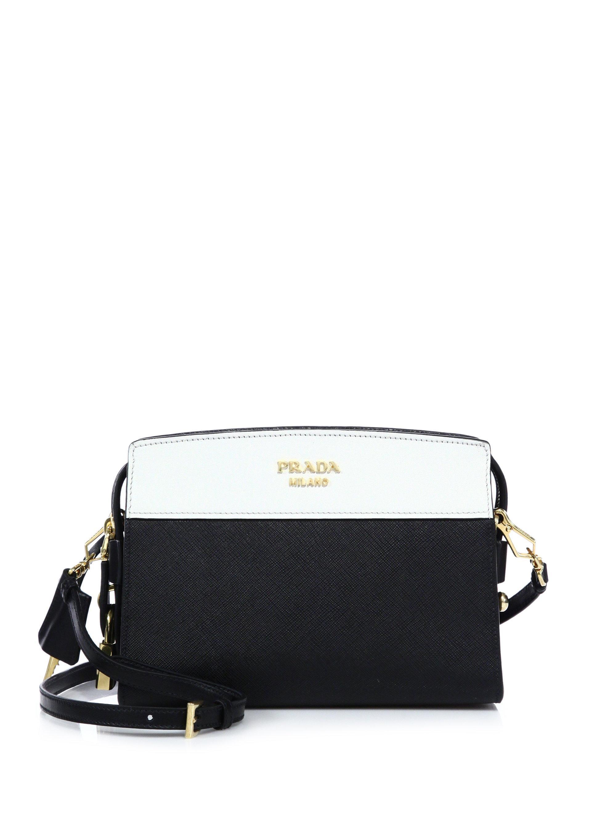 2028906169 ... new zealand prada white esplanade leather shoulder bag lyst. view  fullscreen 6ca03 bcf9f
