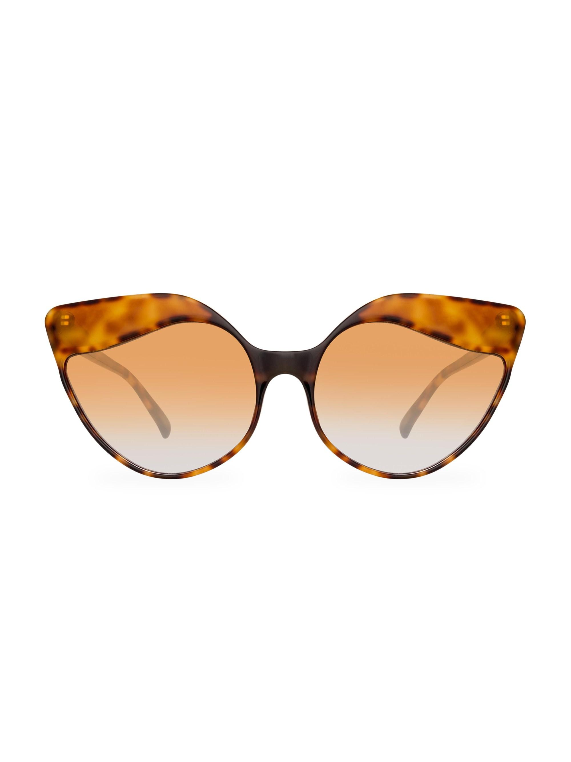 4c783dc4c9 Lyst - Linda Farrow Oversized 59.5mm Cat Eye Sunglasses in Brown
