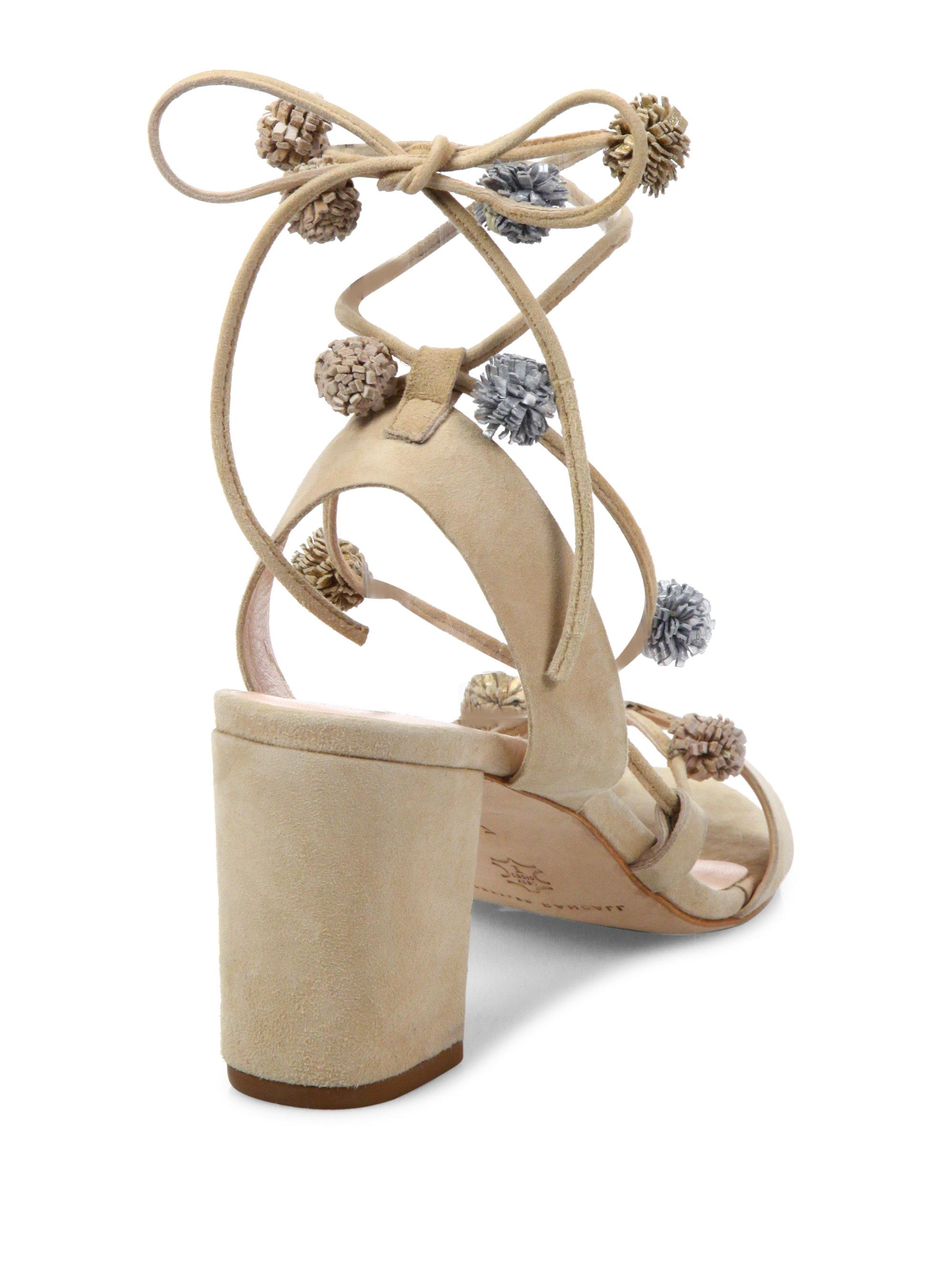 13fa34ab63a Gallery. Previously sold at  Saks Fifth Avenue · Women s Pom Pom Shoes  Women s Strappy Heels ...
