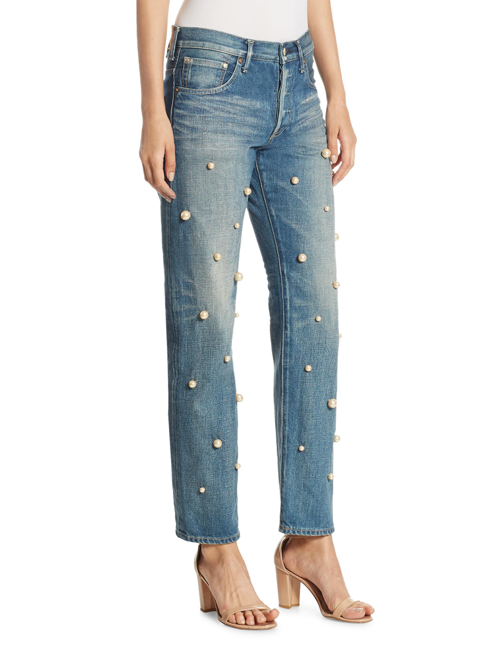 Big Pearl jeans - Blue Tu Es Mon TRÉSOR vEzQUwbRb