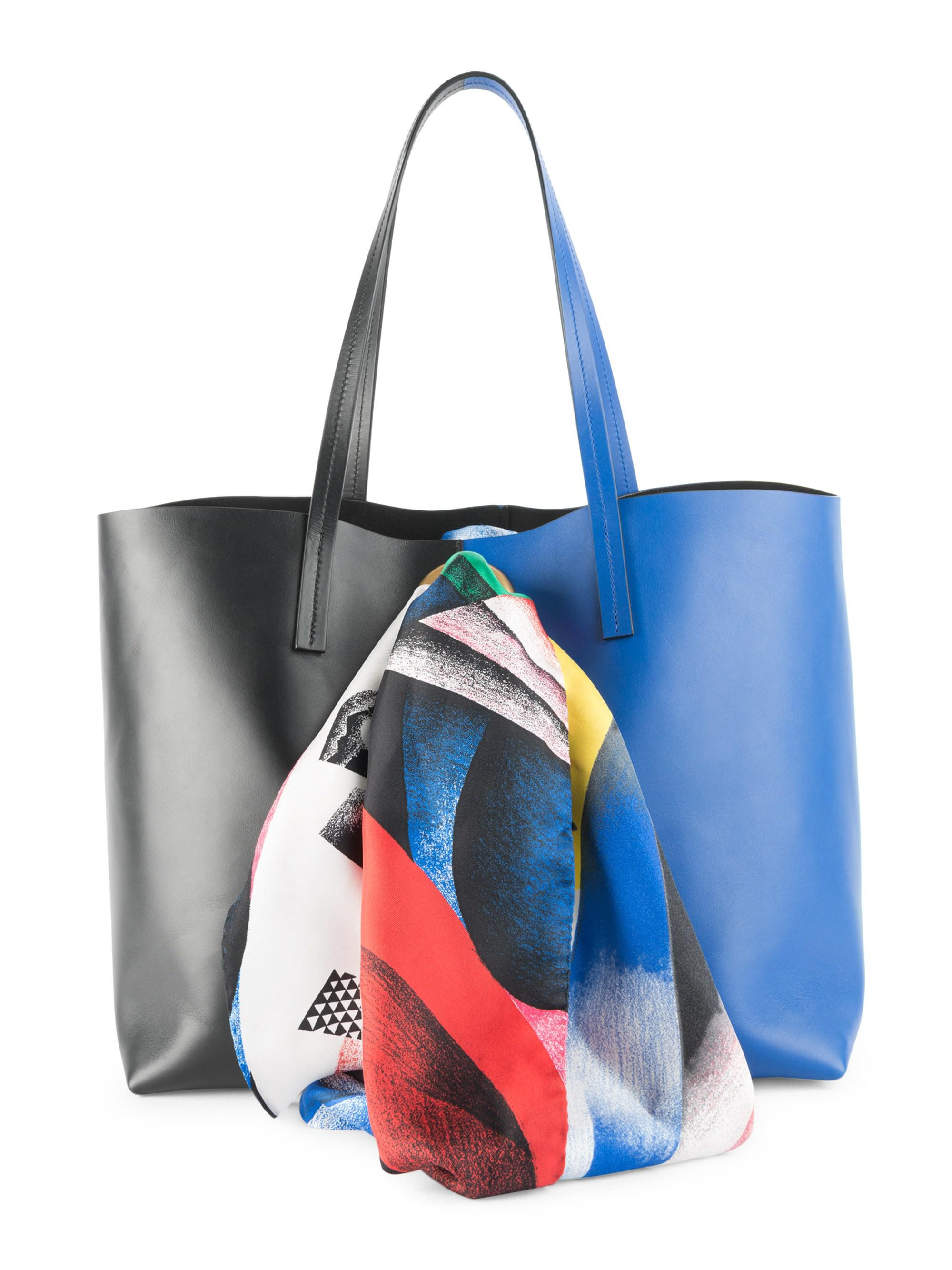 31970a7cad Versace Clash Print Sash Tote in Blue - Lyst