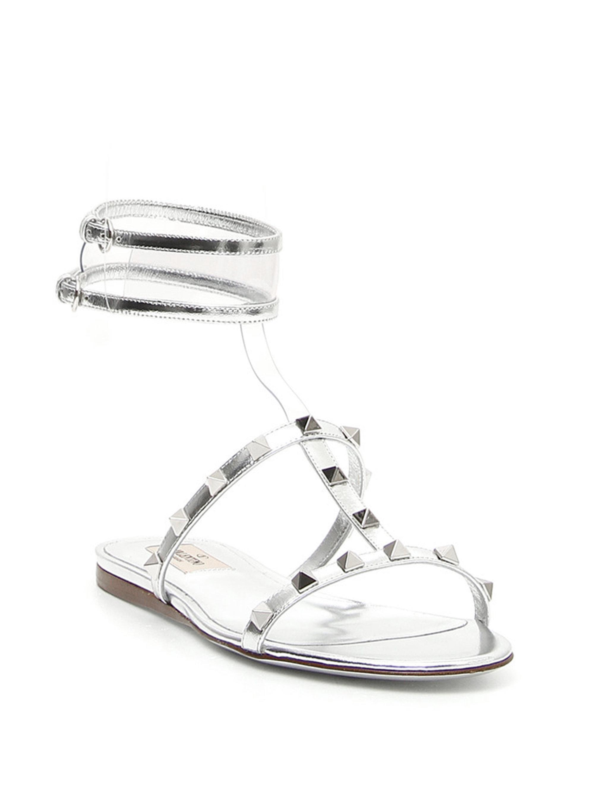 1bc9d74c5db9 Lyst - Valentino Moonwalk Gladiator Sandals in Metallic