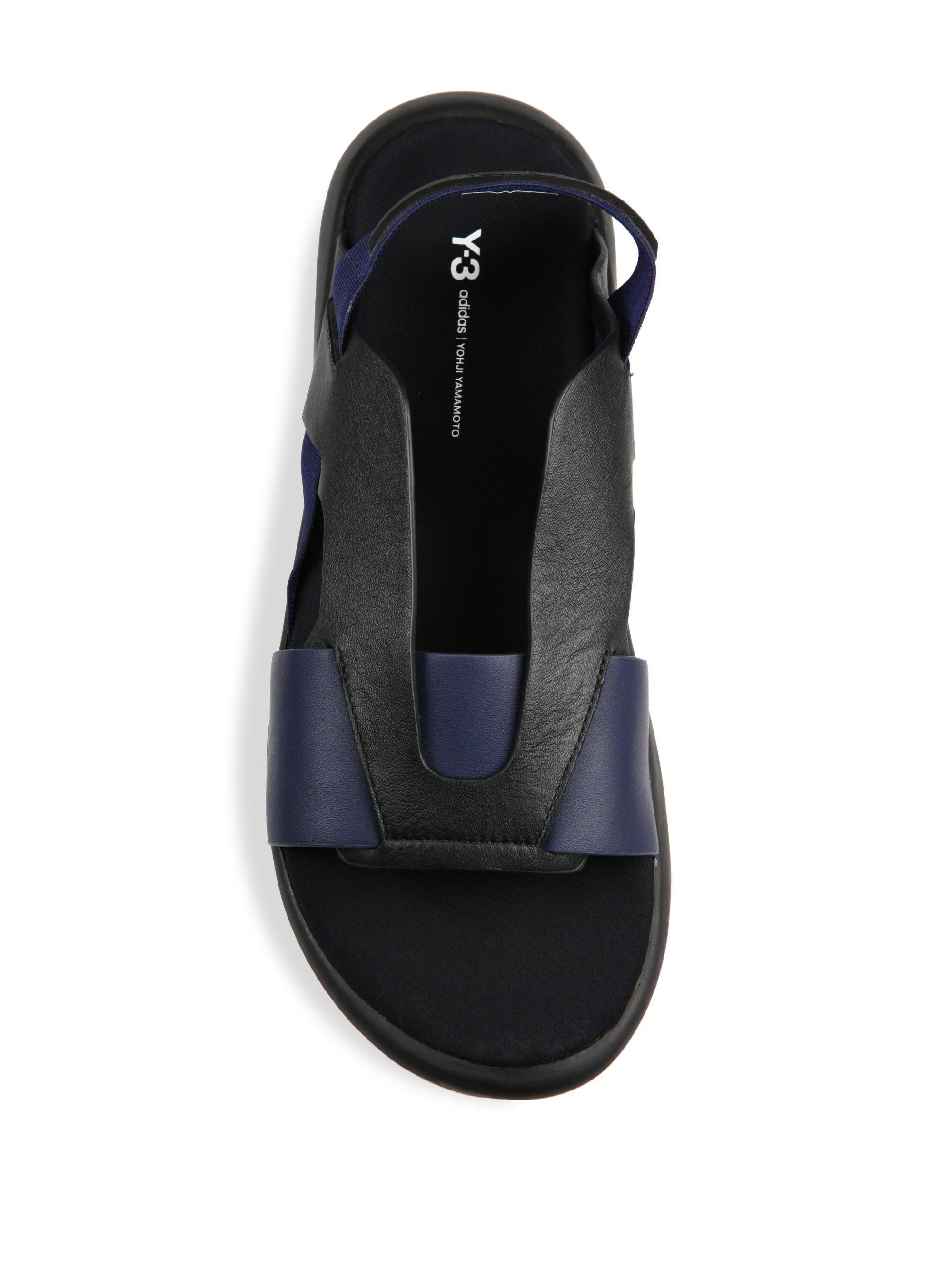 5592a6030 Y-3 Qasa Elle Sandals in Blue - Lyst