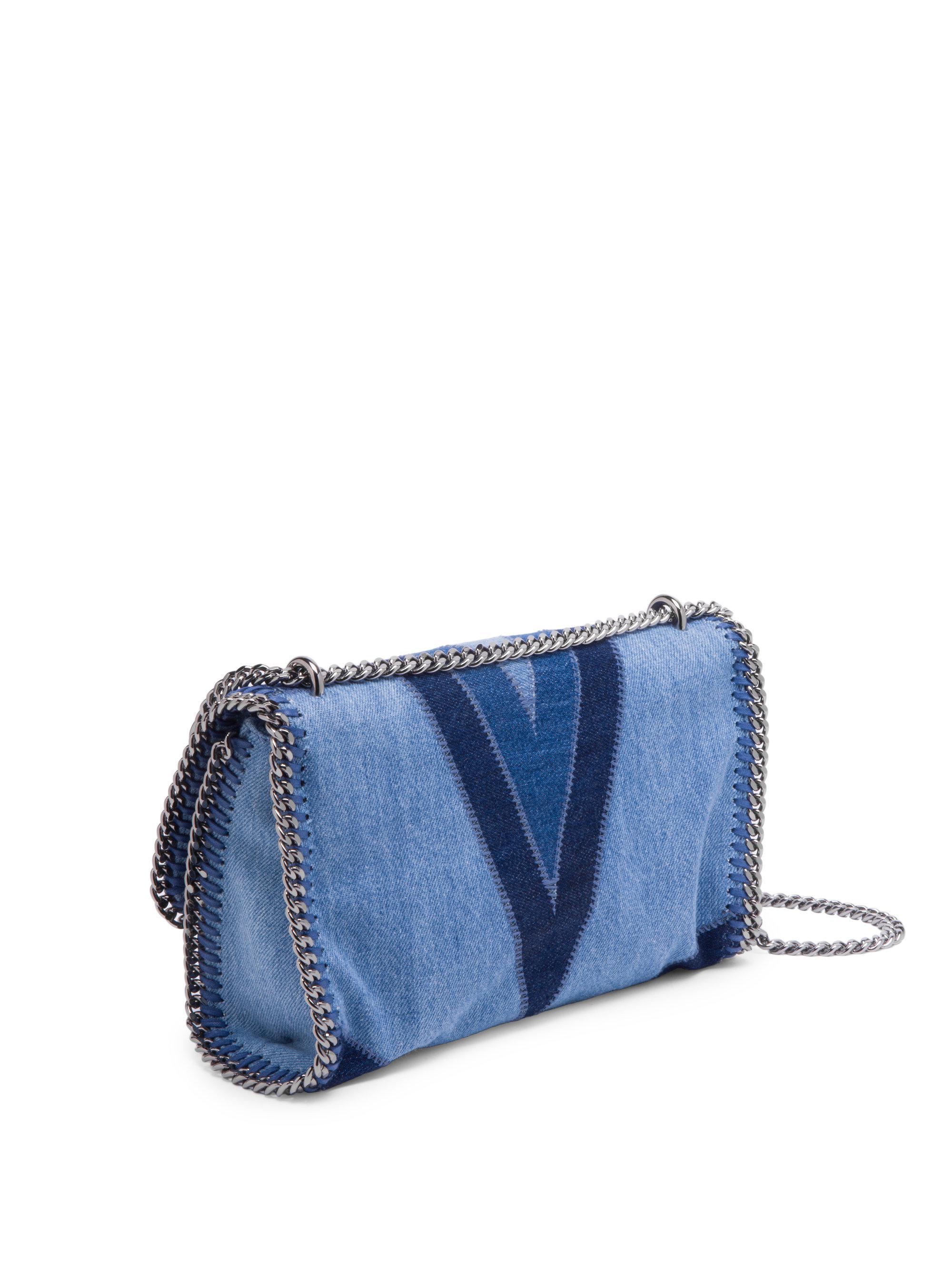 Lyst - Stella McCartney Star Denim Shoulder Bag in Blue ec63b705f7209