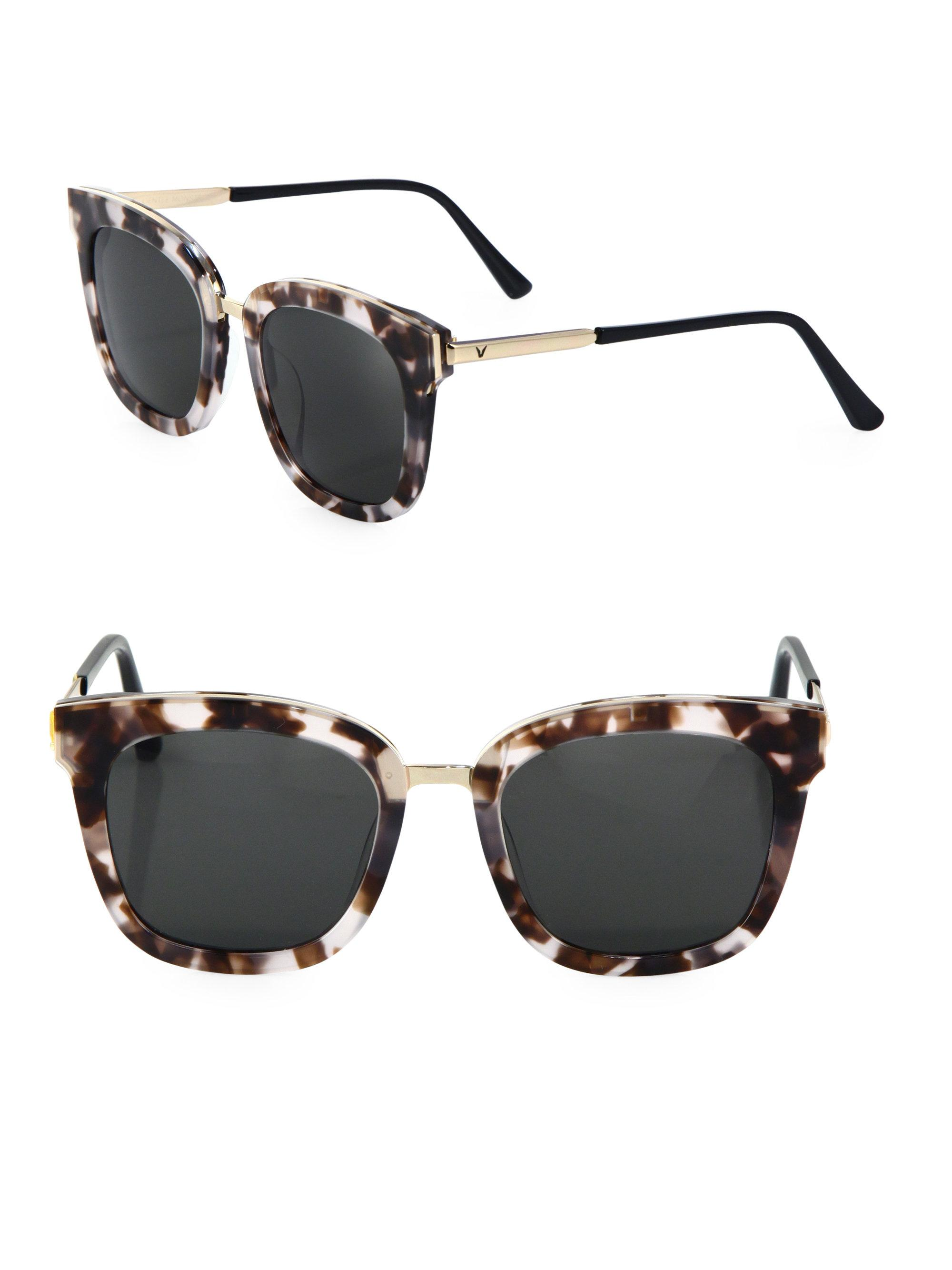 0484f2d9eee Gentle Monster Button 53mm Square Sunglasses - Lyst