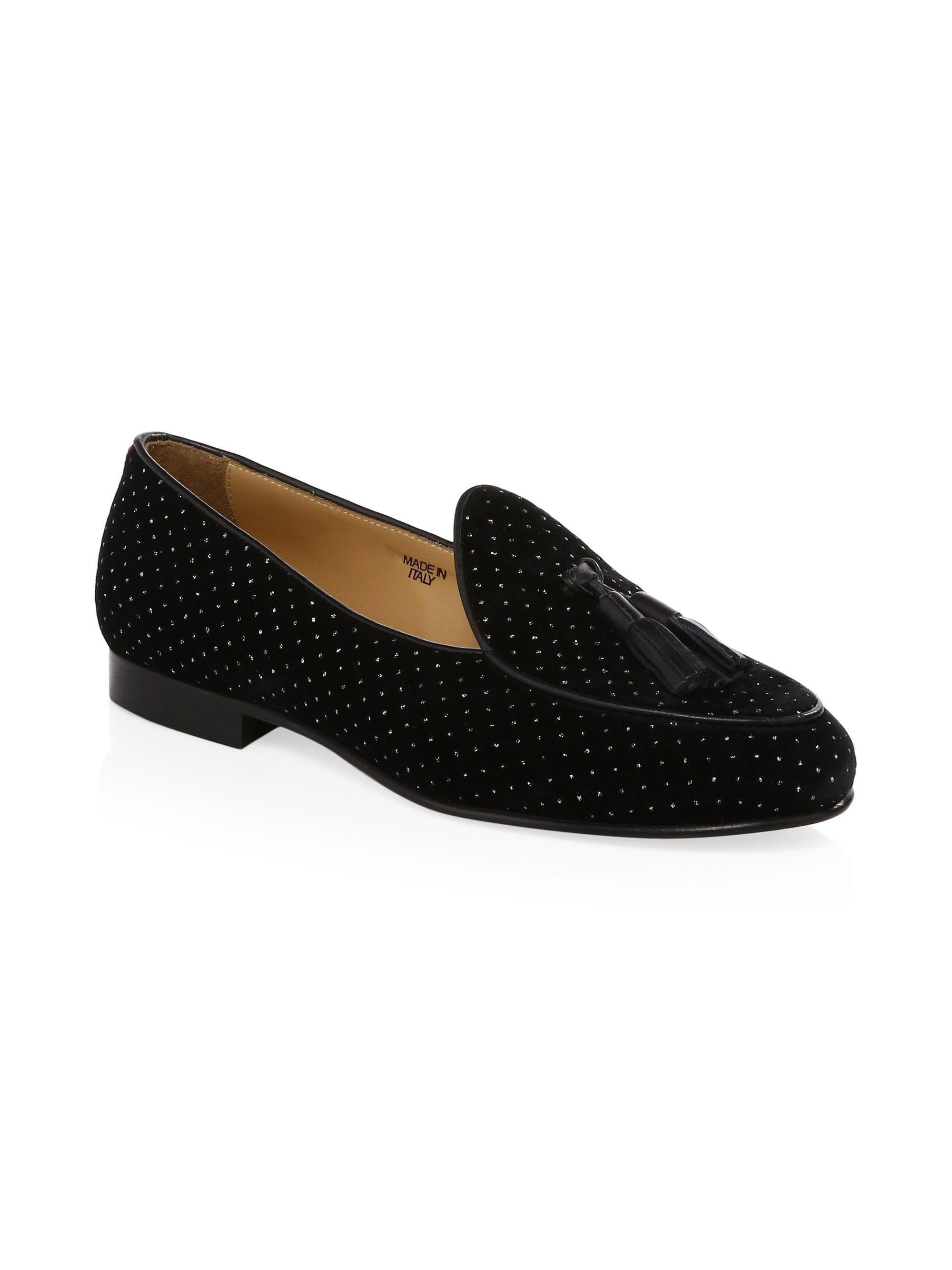 88b8d2995 Lyst - Del Toro Velvet Tassel Loafers in Black for Men
