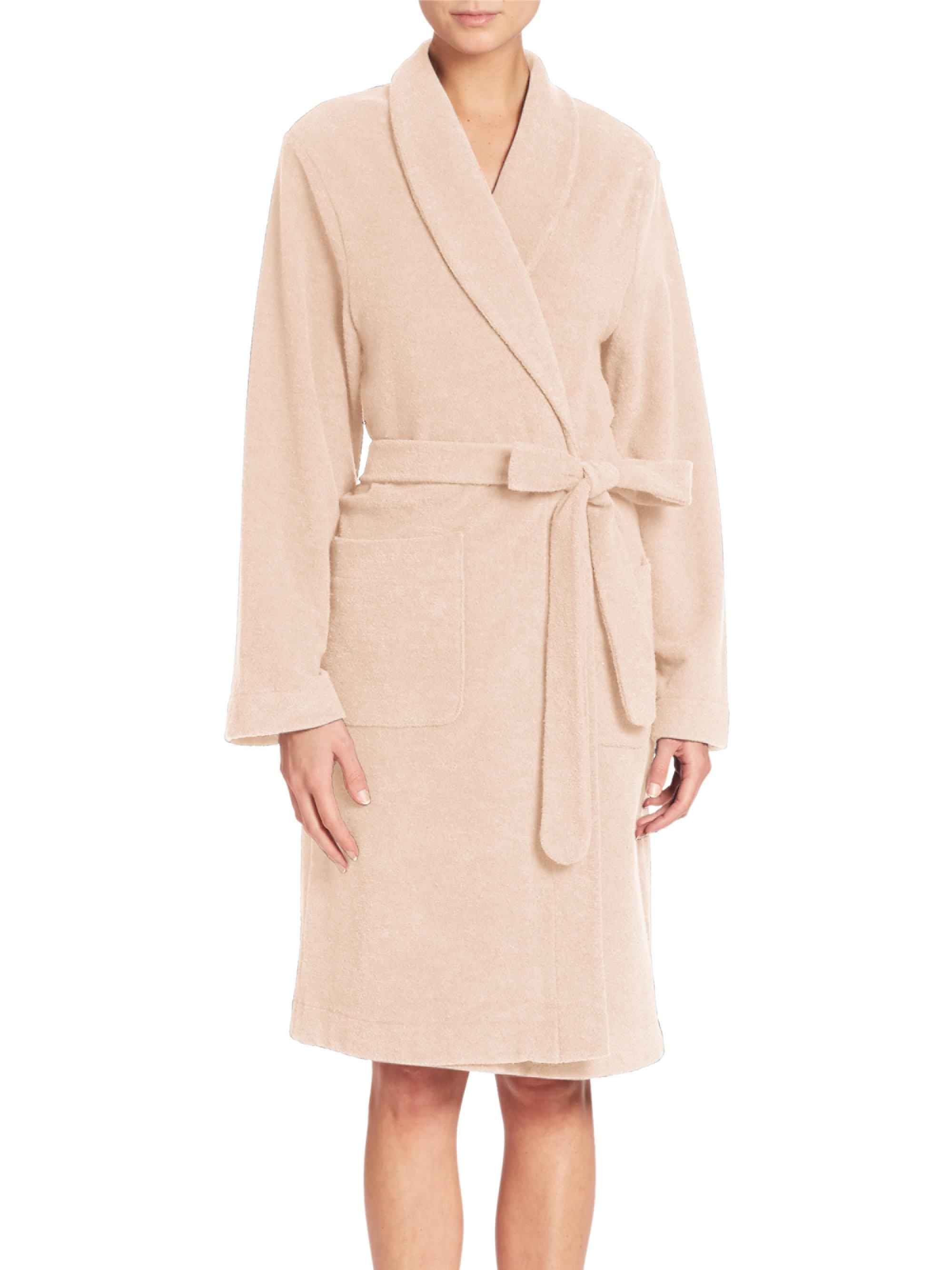 92ace9f033 Lyst - Hanro Terry Robe in Natural