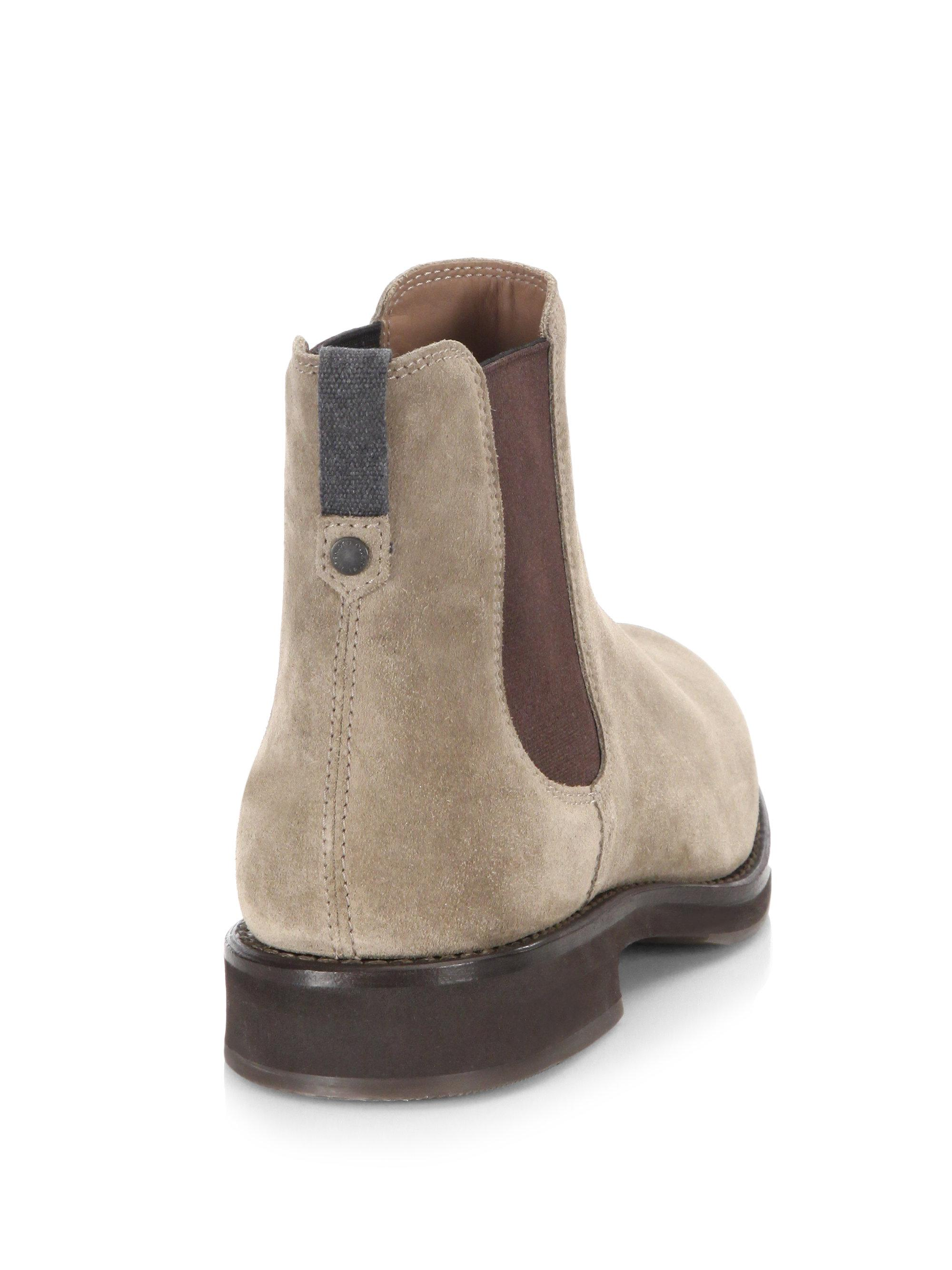 Brunello Cucinelli Two-Tone Suede Chelsea Boots 6jag6QL