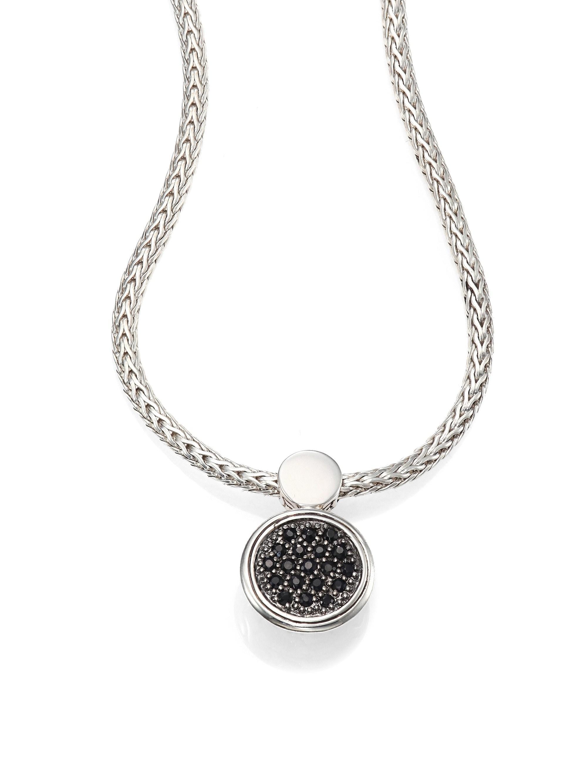 077c9fc126f67 John Hardy. Women s Metallic Dot Black Sapphire   Sterling Silver Lava Round  Pendant Necklace ...