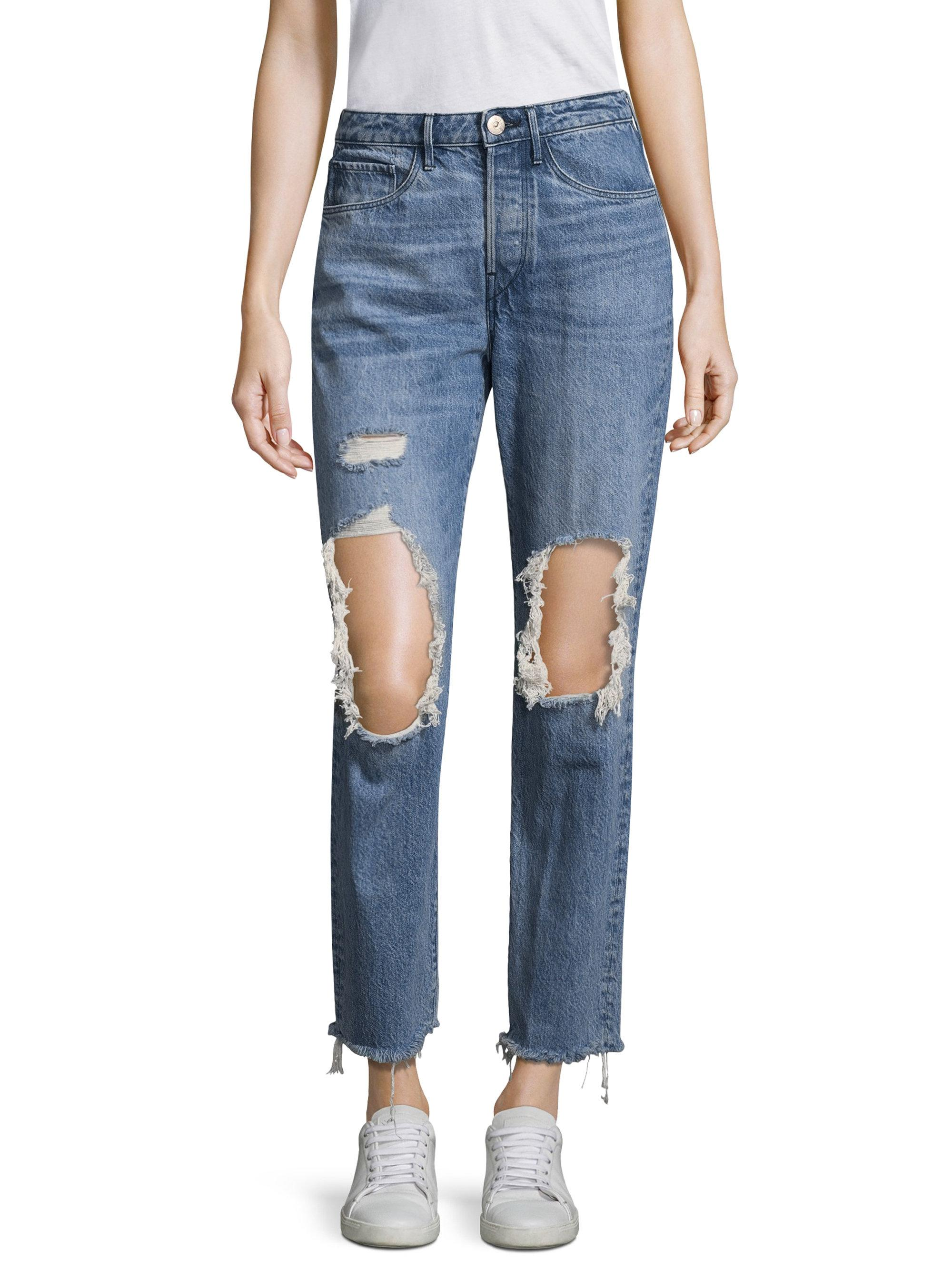 Woman Higher Ground Shatter Distressed Boyfriend Jeans Light Denim Size 30 3x1 Sale Cheap Prices Sale Clearance Store Outlet Cheap Price Cheap Purchase kzCGJb60KI