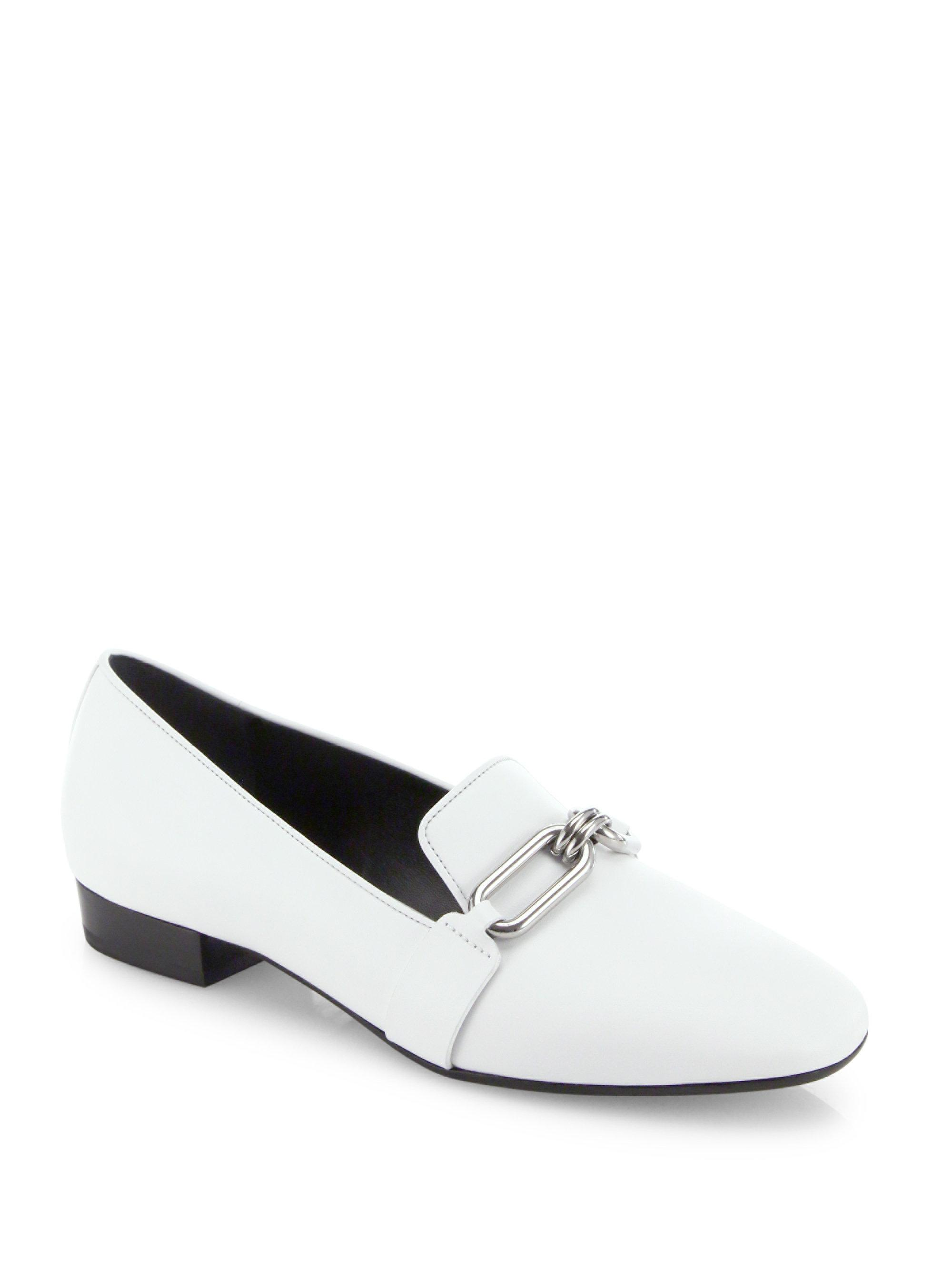 9df226b039d Lyst - Michael Kors Lennox Leather Loafers in White