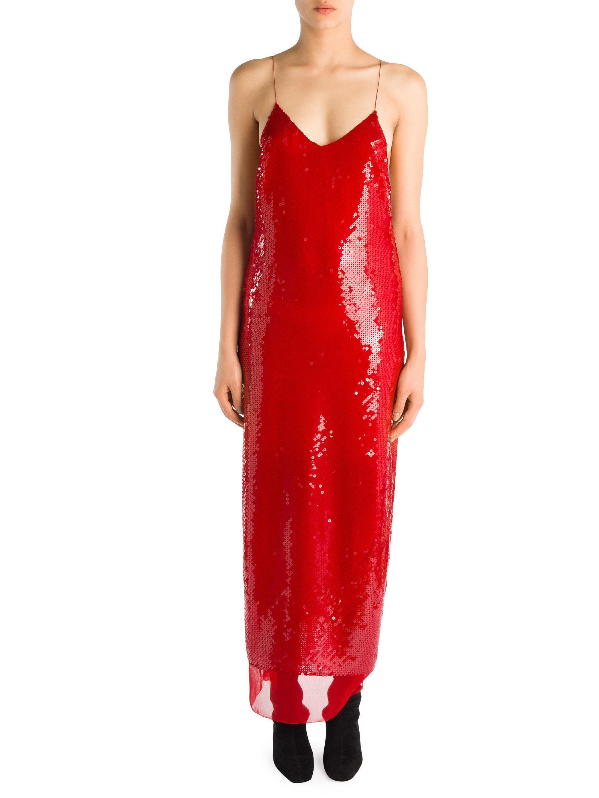 1c56ee5551 Stella McCartney Bernice Silk Sequin Dress in Red - Lyst