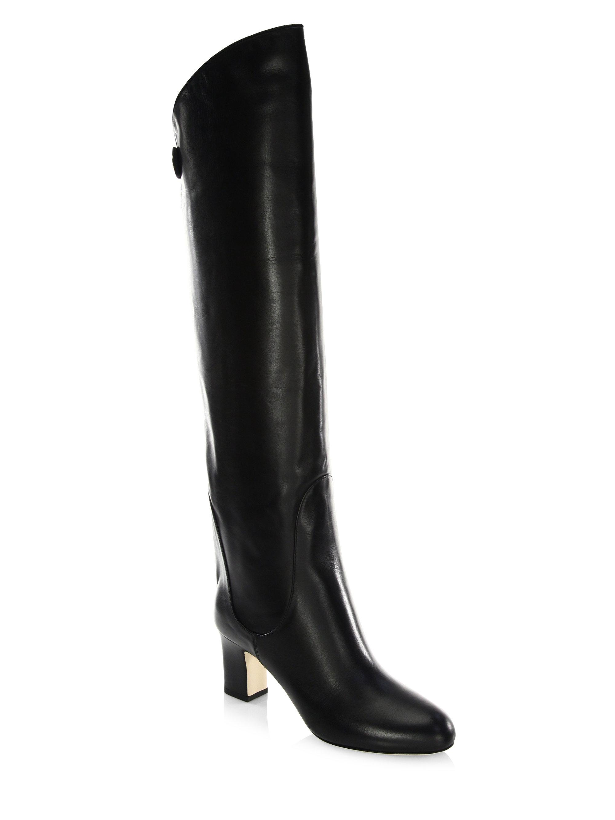 9fdc4828975d Lyst - Jimmy Choo Minerva 65 Leather Over-the-knee Boots in Black