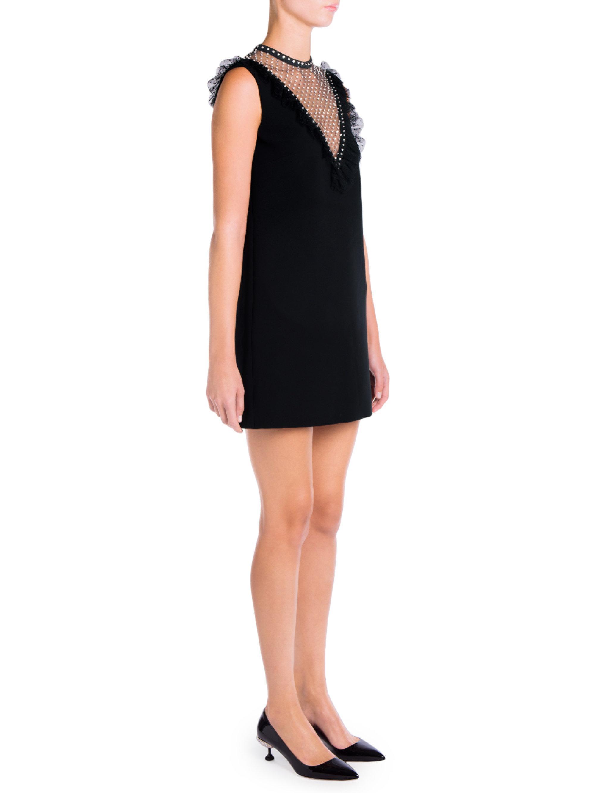 Cady faille dress - Black Miu Miu 2OCywDTI